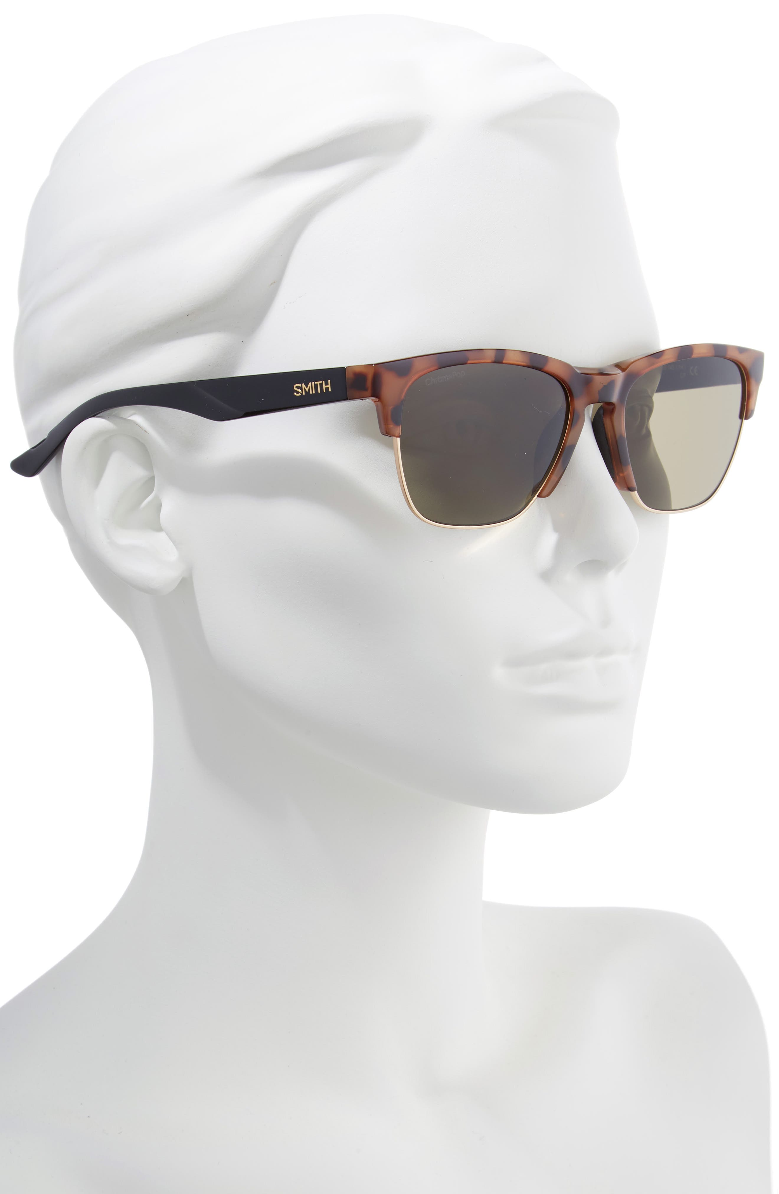 SMITH, Haywire 55mm ChromaPop<sup>™</sup> Polarized Sunglasses, Alternate thumbnail 2, color, HONEY TORTOISE/ GREEN