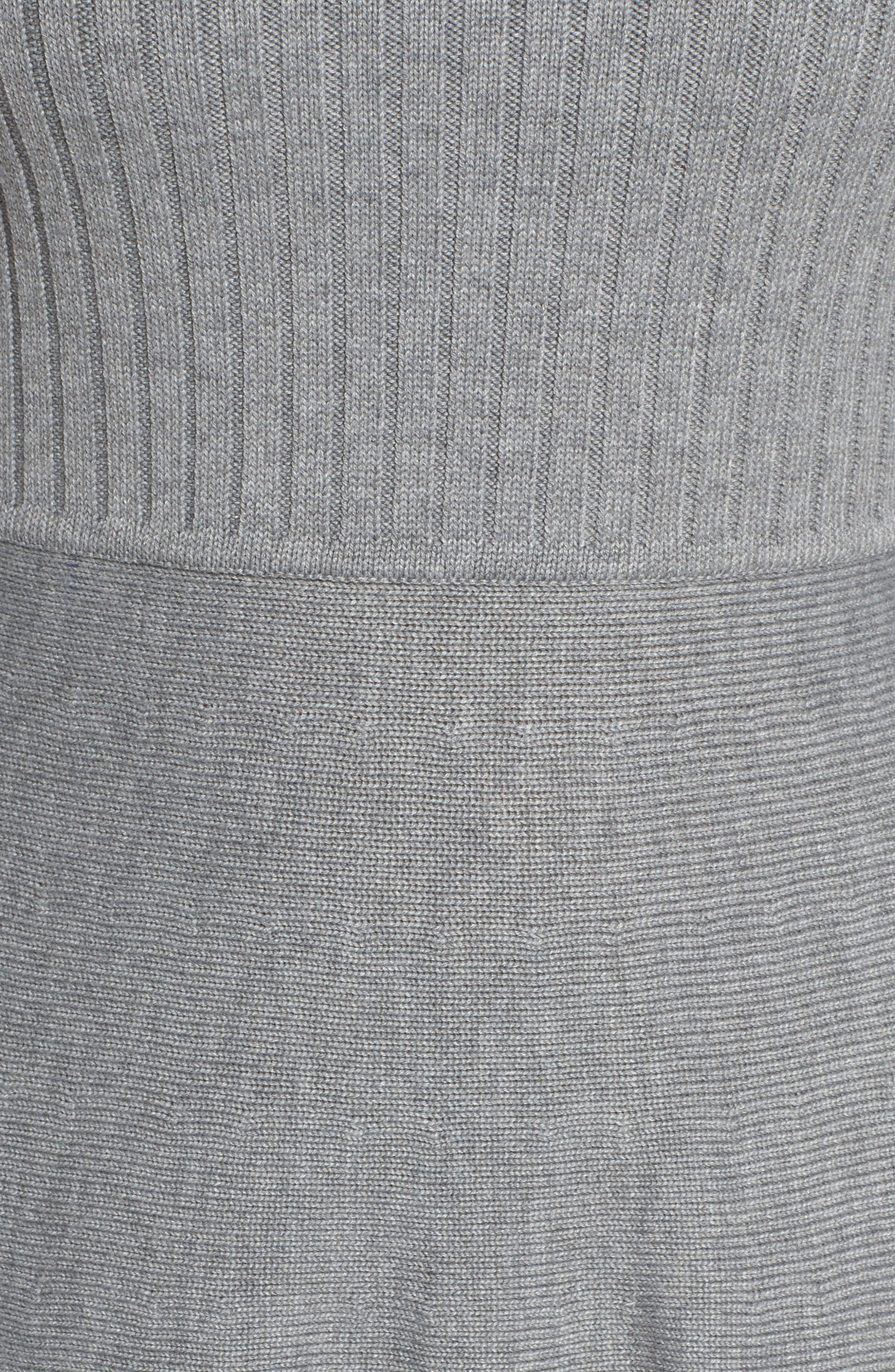 ELIZA J, Turtleneck Sweater Dress, Alternate thumbnail 7, color, GREY