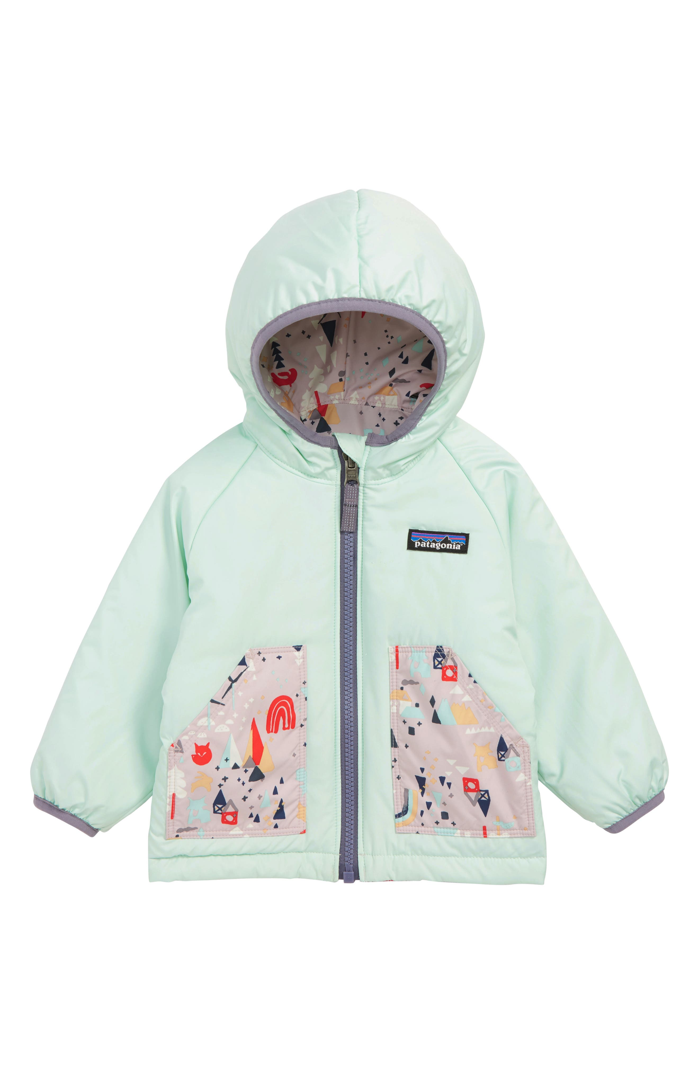 PATAGONIA, Puff Ball Water Resistant Thermogreen<sup>™</sup> Insulated Reversible Jacket, Alternate thumbnail 2, color, 020