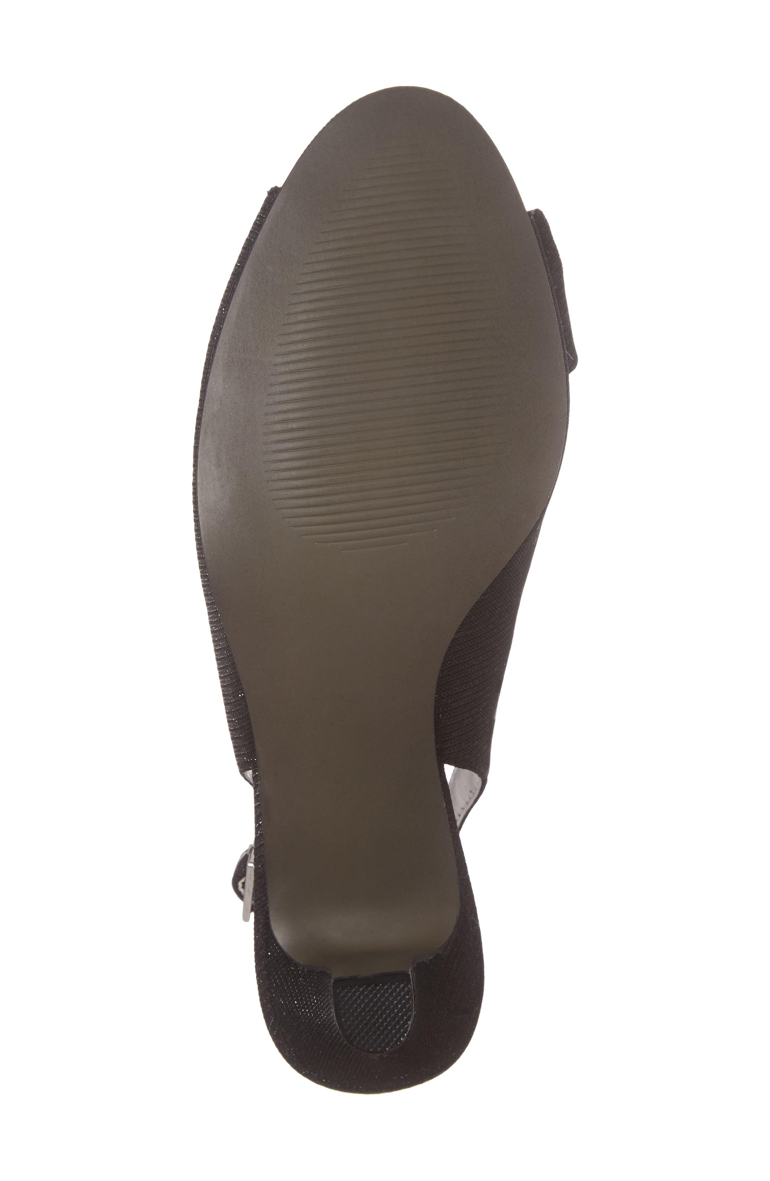 DAVID TATE, Spirit Slingback Sandal, Alternate thumbnail 6, color, BLACK FABRIC