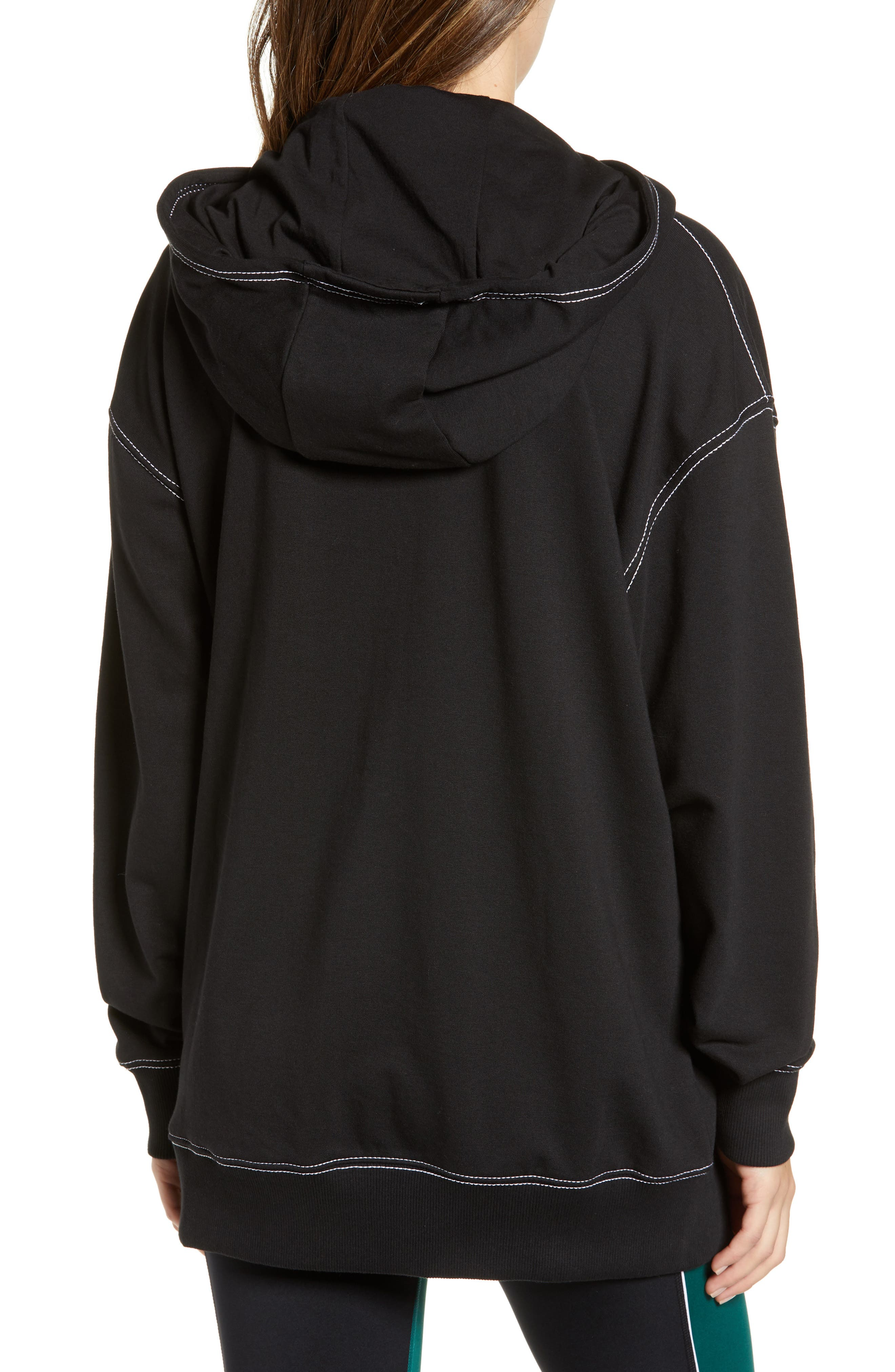 IVY PARK<SUP>®</SUP>, Stab Stitch Hoodie, Alternate thumbnail 2, color, 002