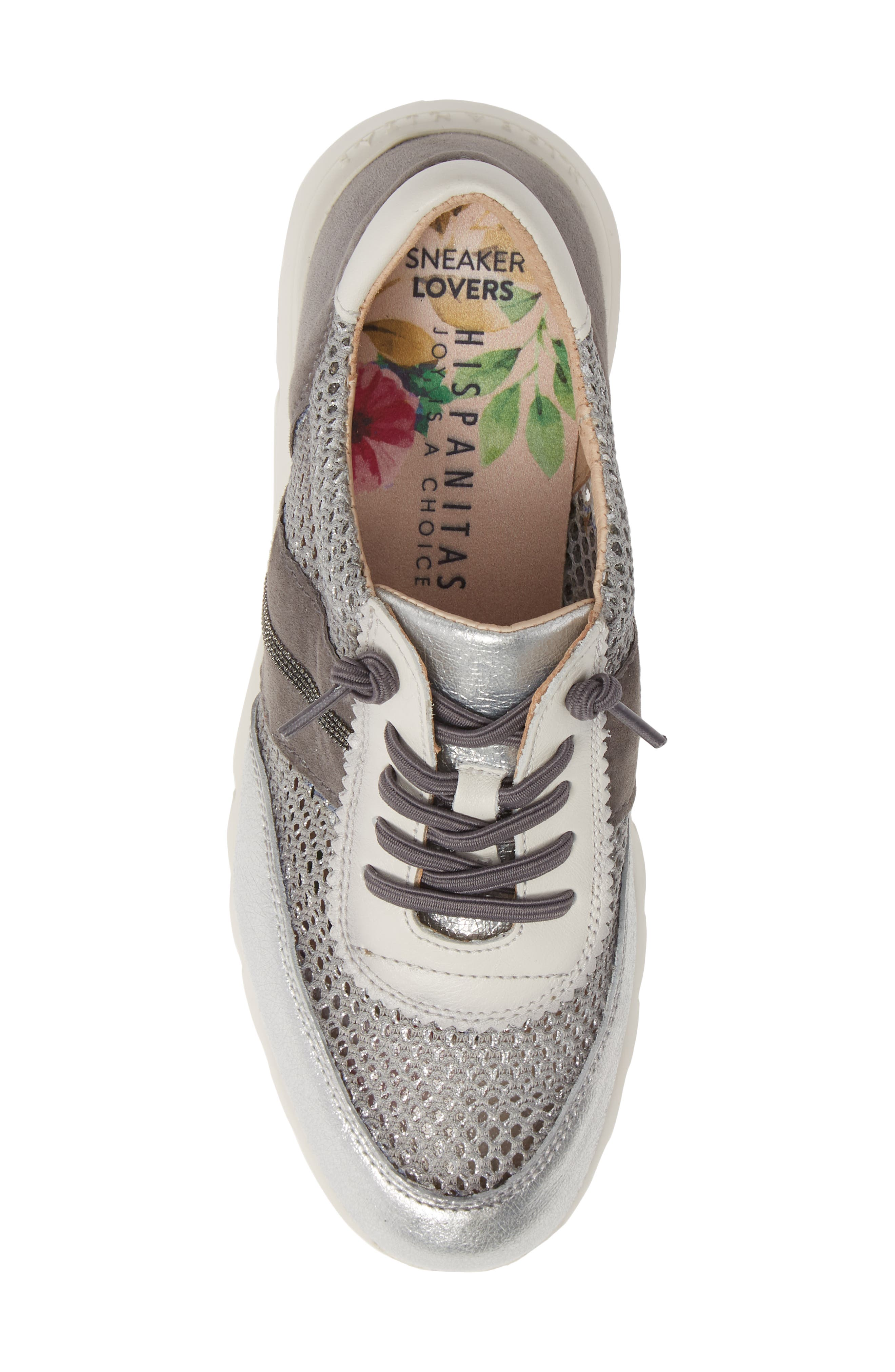 HISPANITAS, Ruth Sneaker, Alternate thumbnail 5, color, SILVER/ GREY SUEDE