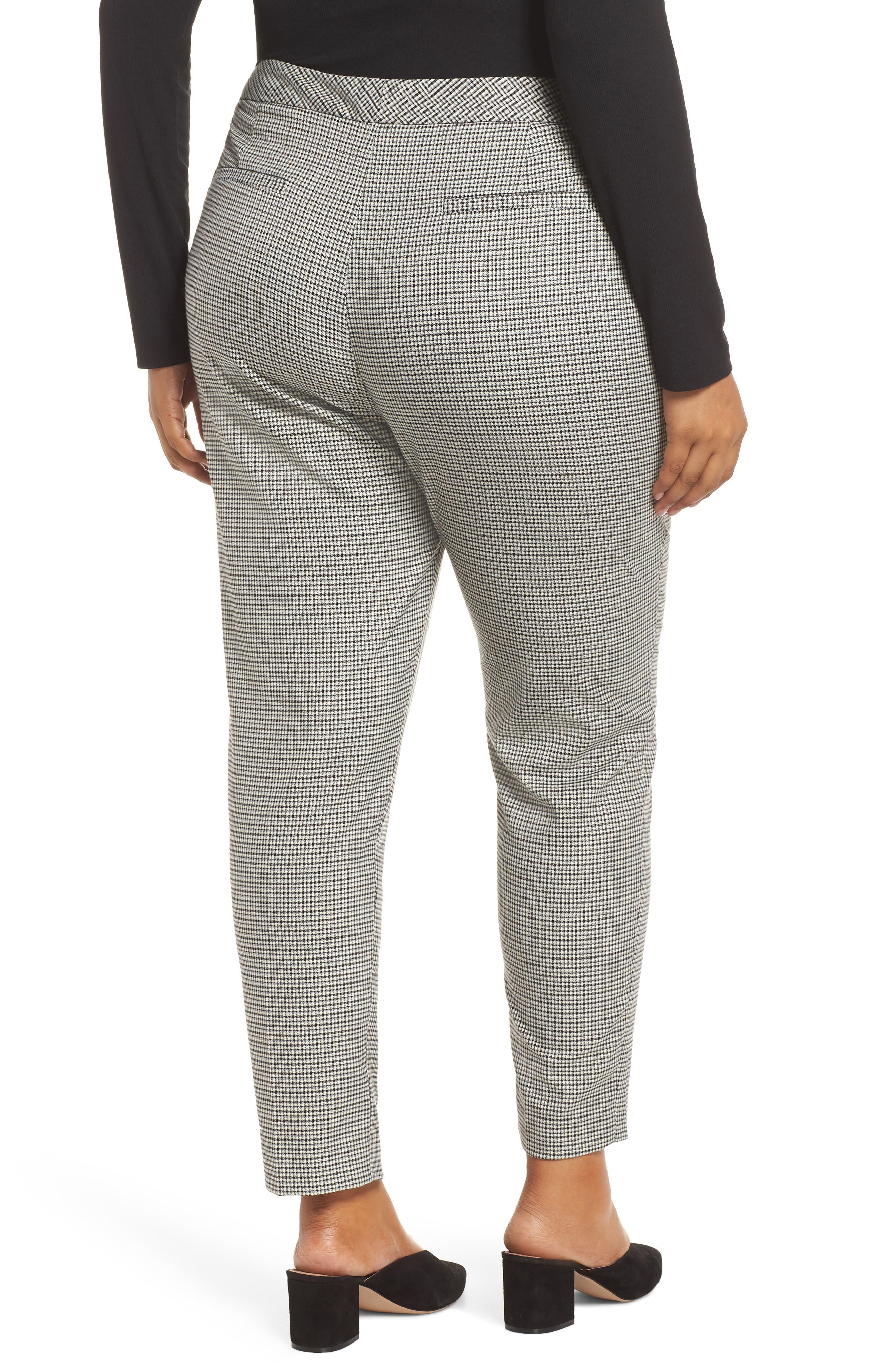 HALOGEN<SUP>®</SUP>, Plaid Ankle Skinny Pants, Alternate thumbnail 9, color, 001