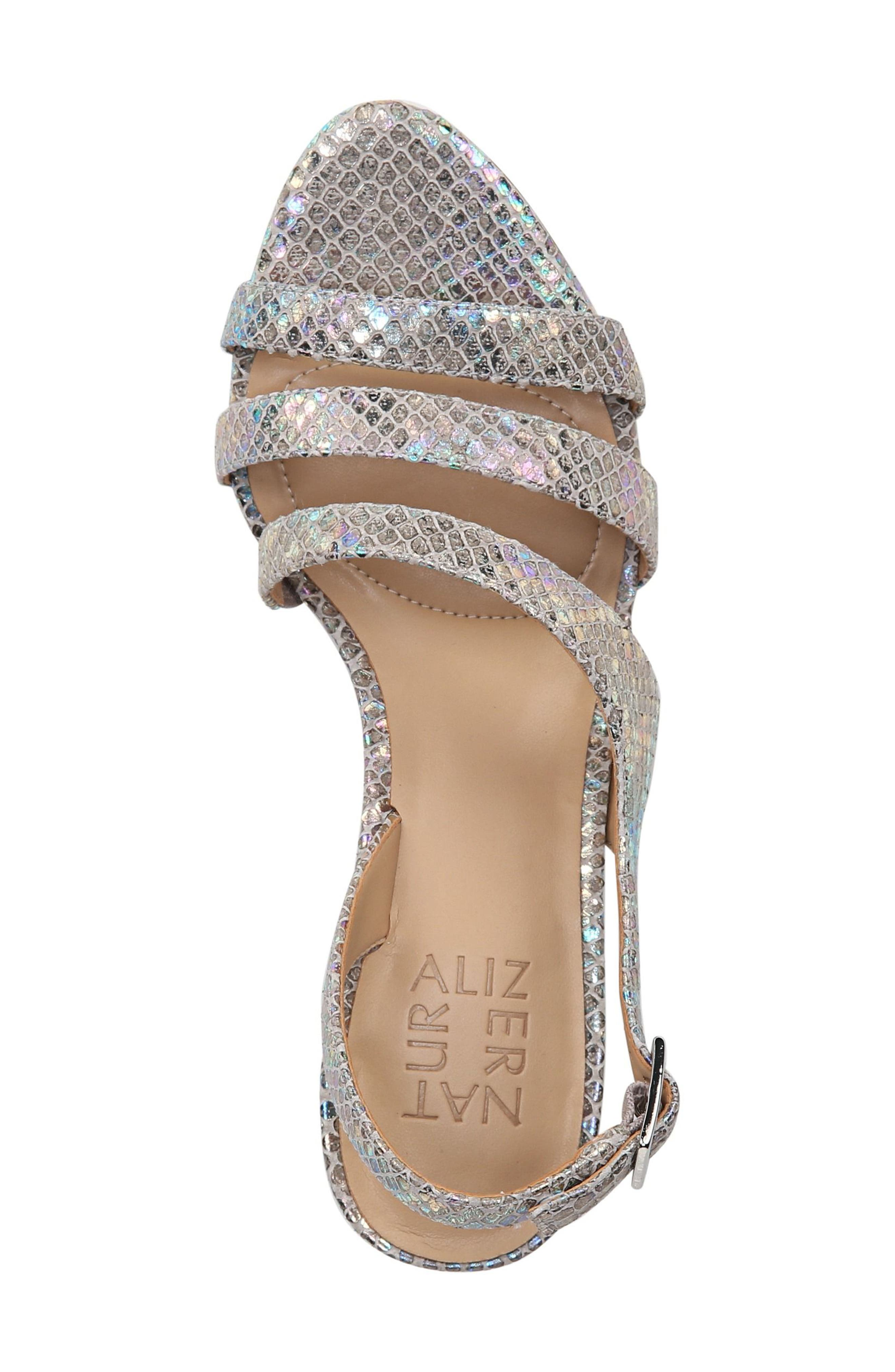 NATURALIZER, Taimi Sandal, Alternate thumbnail 5, color, SILVER SNAKE LEATHER PRINT