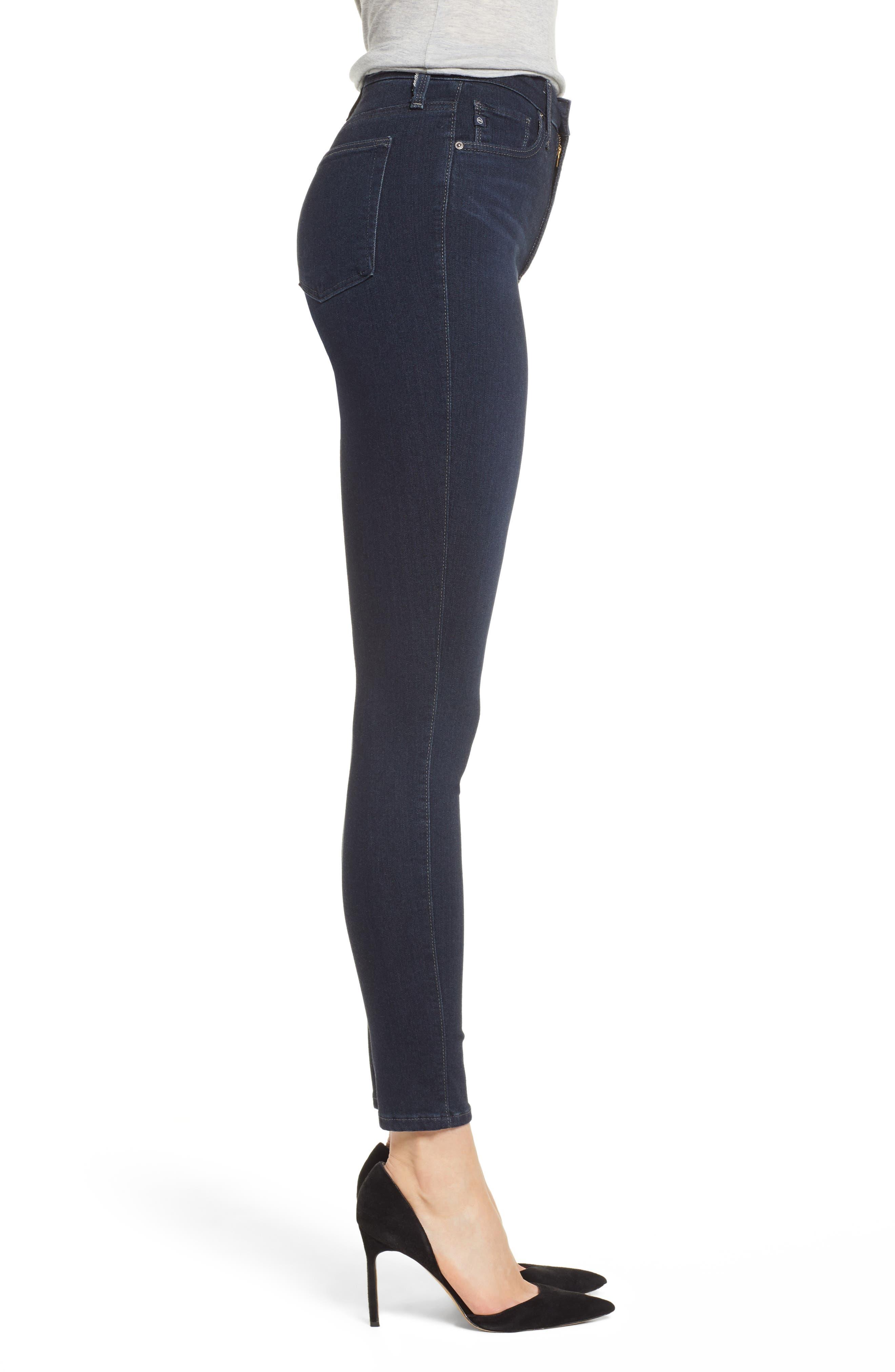 AG, The Mila Super High Waist Ankle Skinny Jeans, Alternate thumbnail 4, color, AUDACIOUS