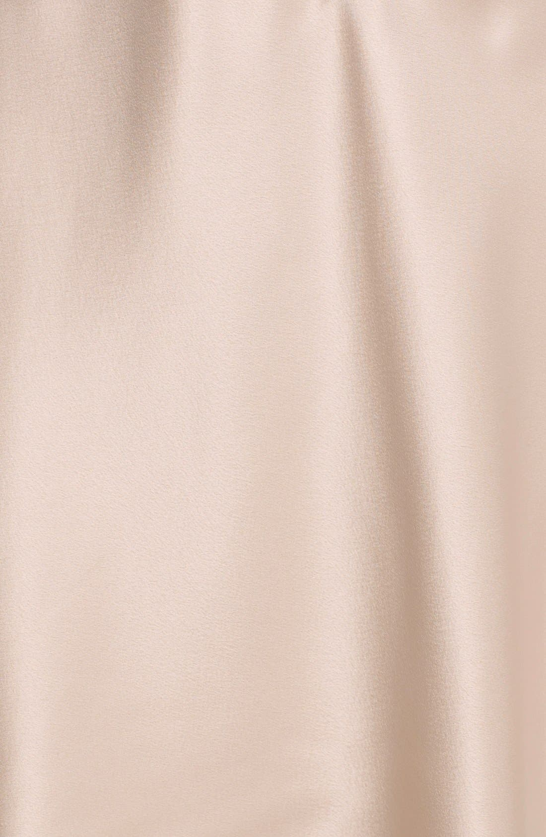 FLORA NIKROOZ, Showstopper Chemise, Alternate thumbnail 8, color, CHAMPAGNE