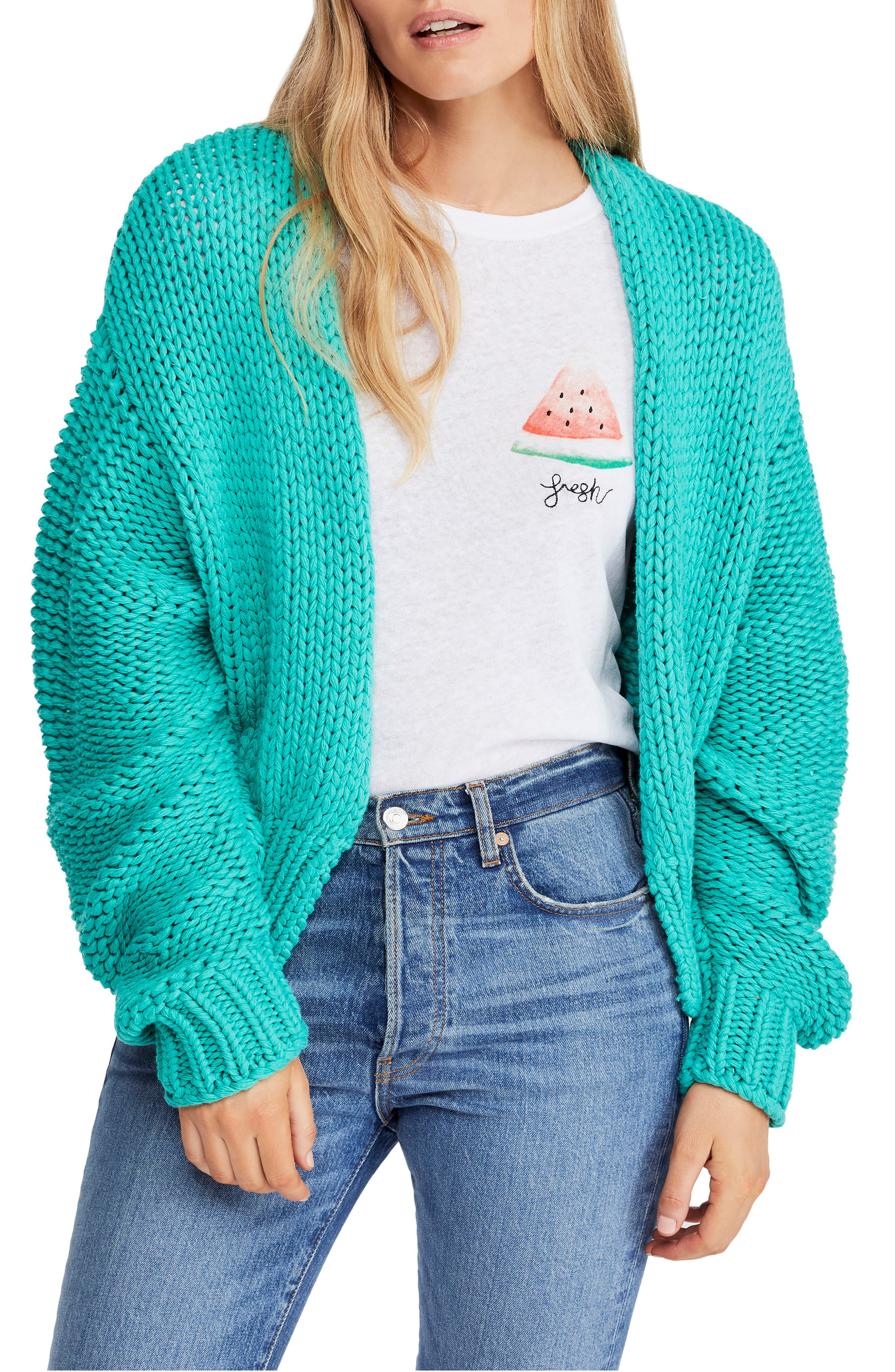FREE PEOPLE, Glow For It Cardigan, Main thumbnail 1, color, 440