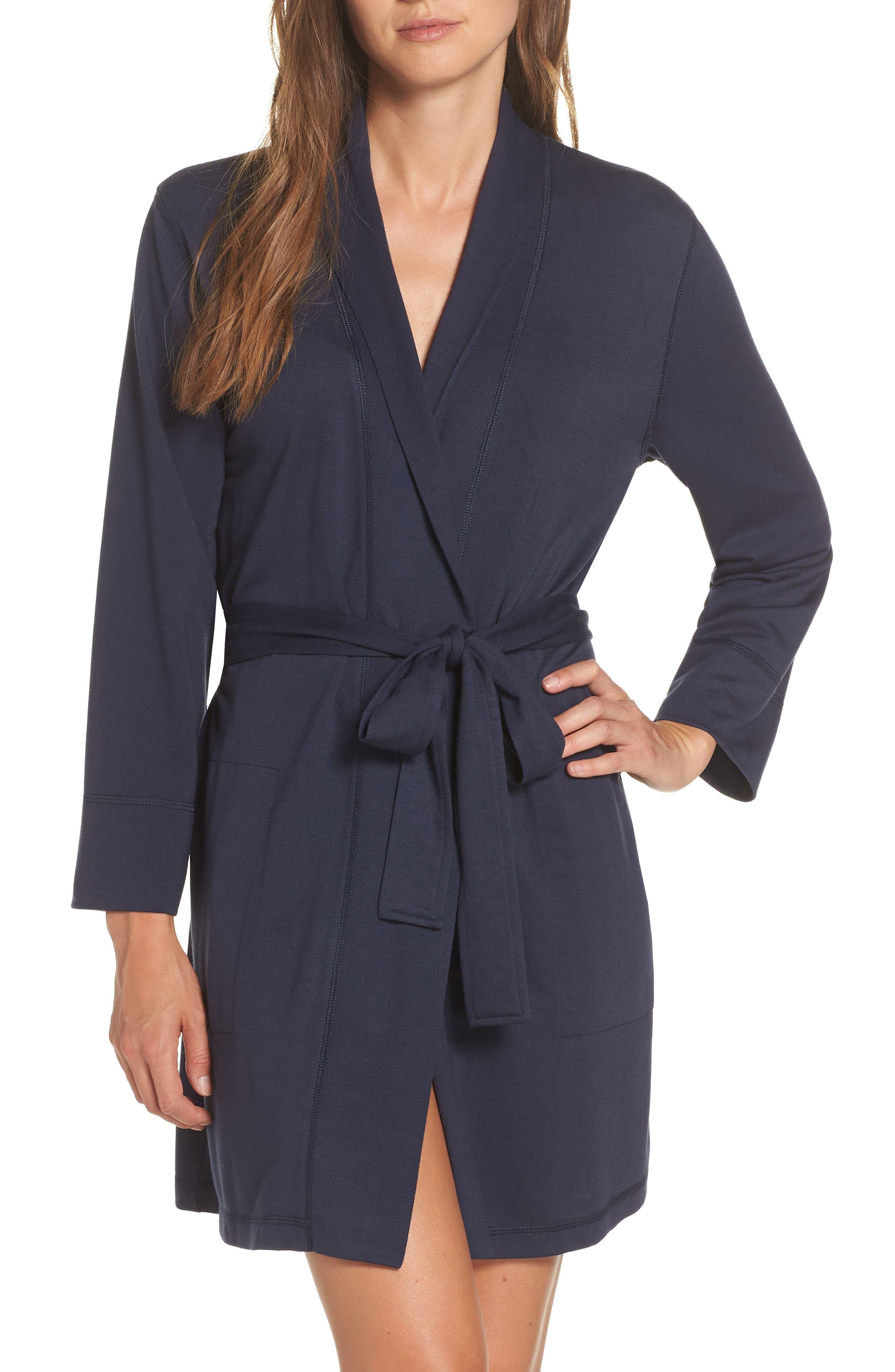 NATORI, Naya Short Robe, Main thumbnail 1, color, NIGHT BLUE