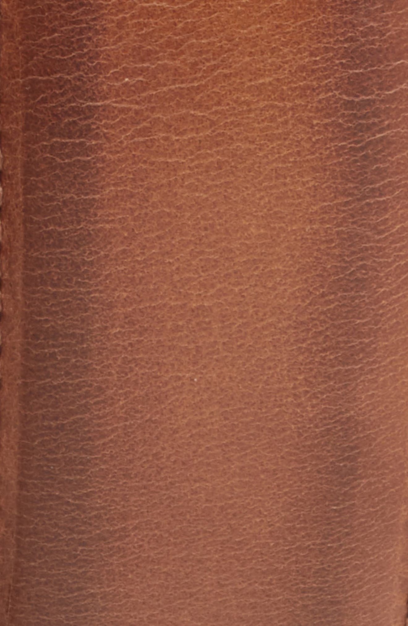 MEZLAN, Nobuk Leather Belt, Alternate thumbnail 2, color, TAUPE