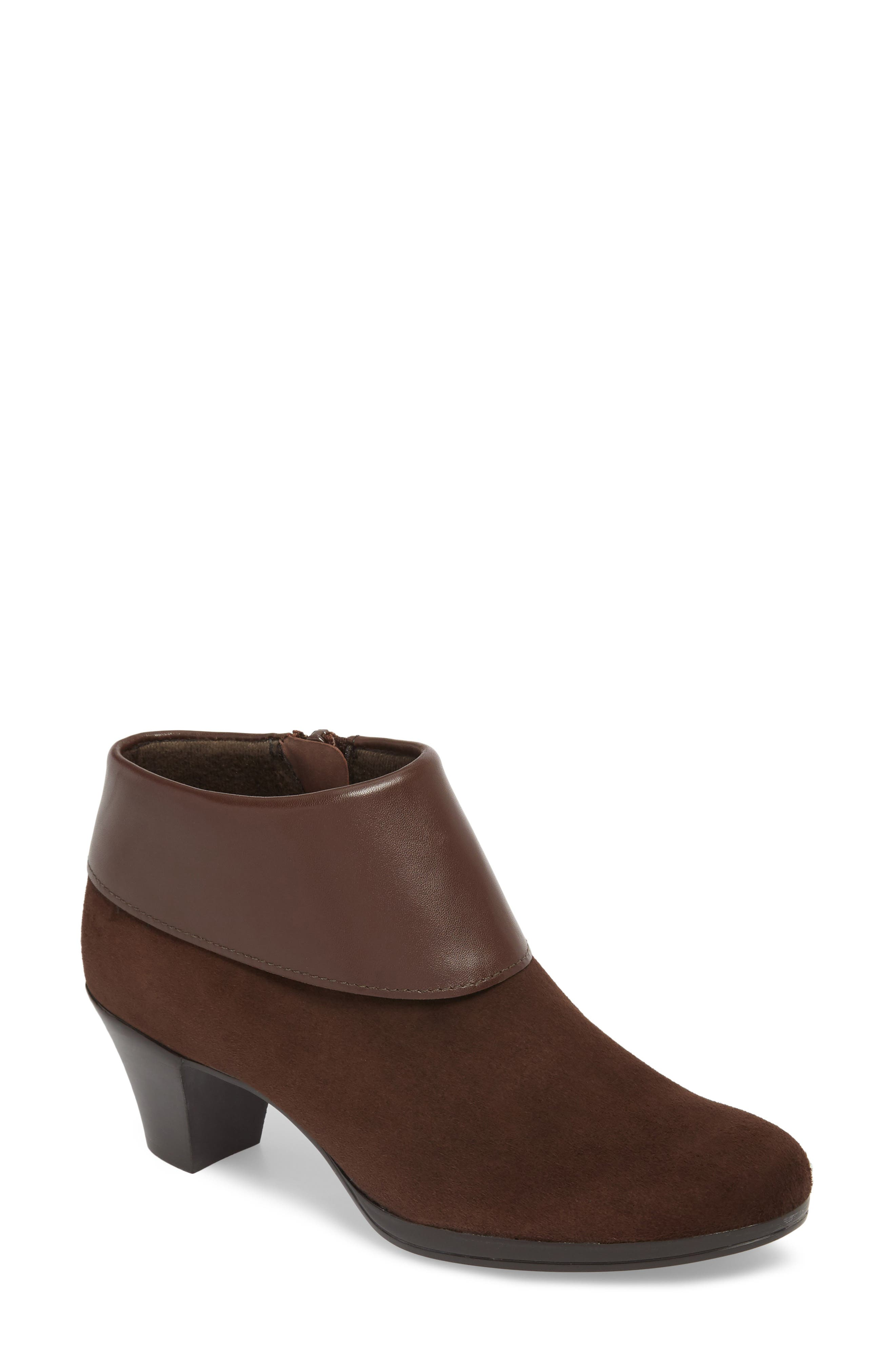 MUNRO Gracee Boot, Main, color, CHOCOLATE LEATHER