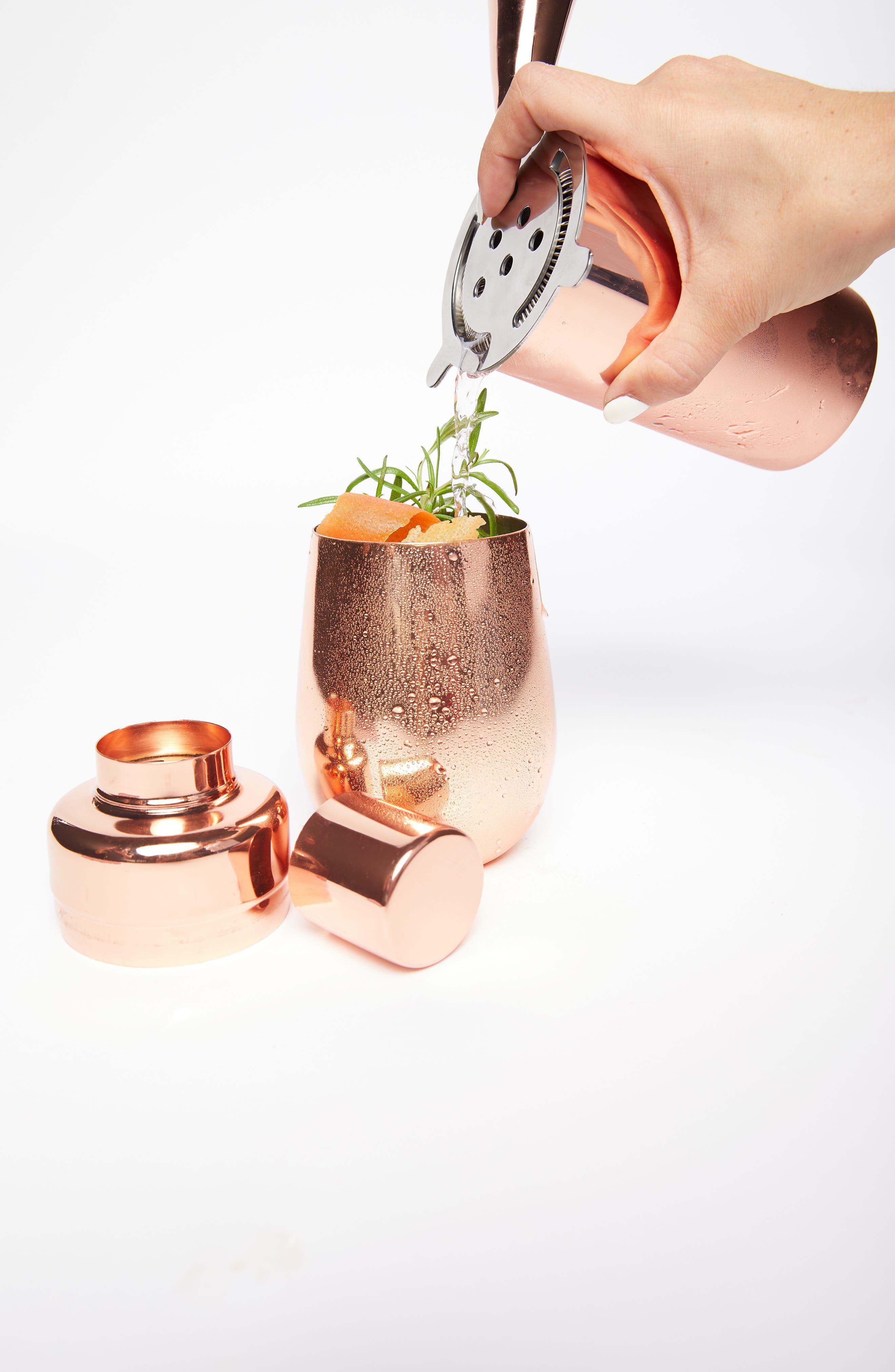 UNCOMMON JAMES BY KRISTIN CAVALLARI, Copper Cocktail Shaker, Alternate thumbnail 3, color, COPPER