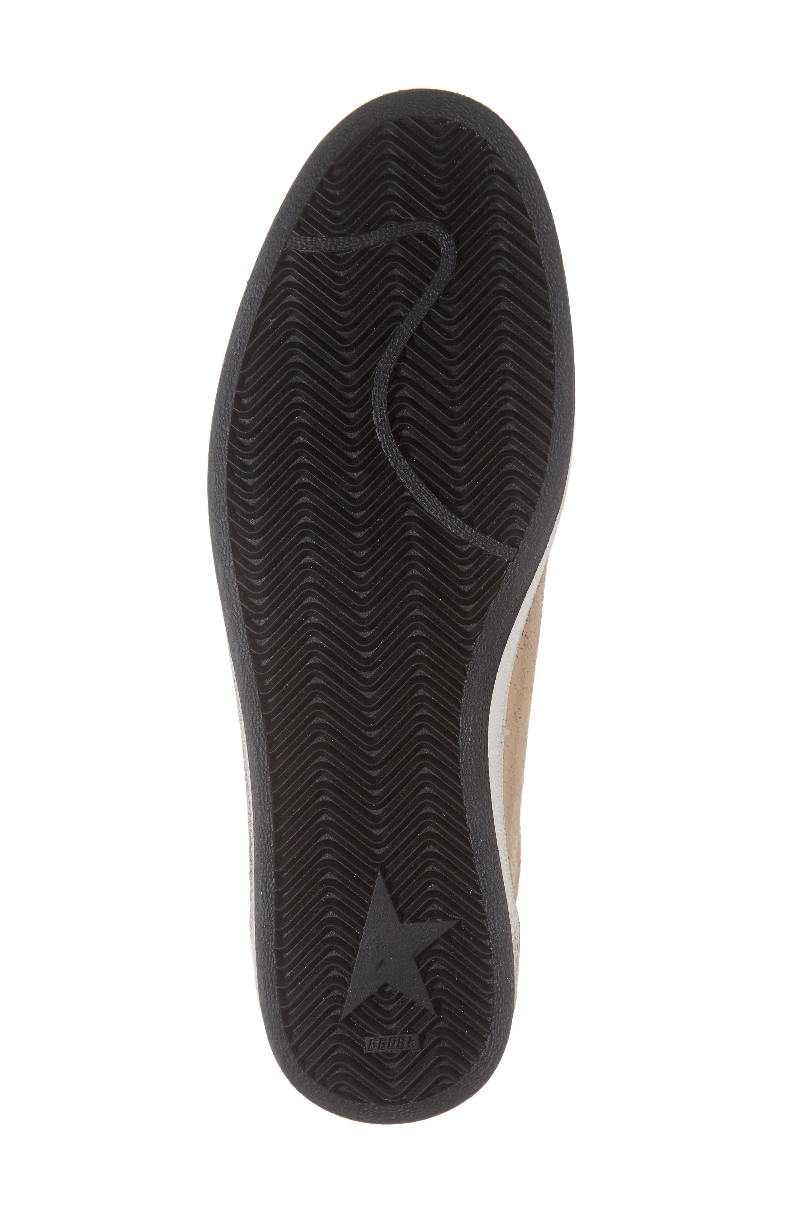GOLDEN GOOSE, B-Ball Star Sneaker, Alternate thumbnail 6, color, BLACK DRAWING