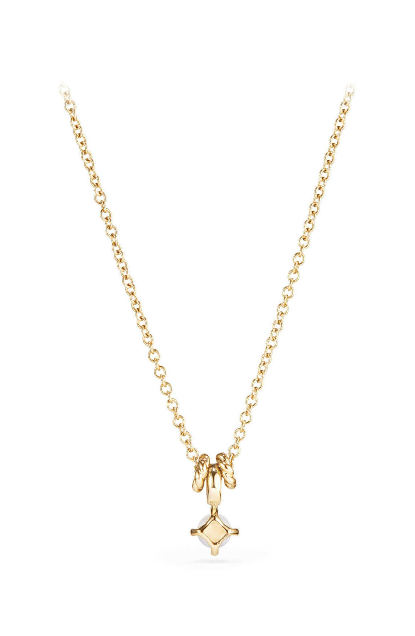 DAVID YURMAN, Cable Collectibles<sup>®</sup> Kids' Birthstone Necklace in 18K Gold, Alternate thumbnail 2, color, PEARL