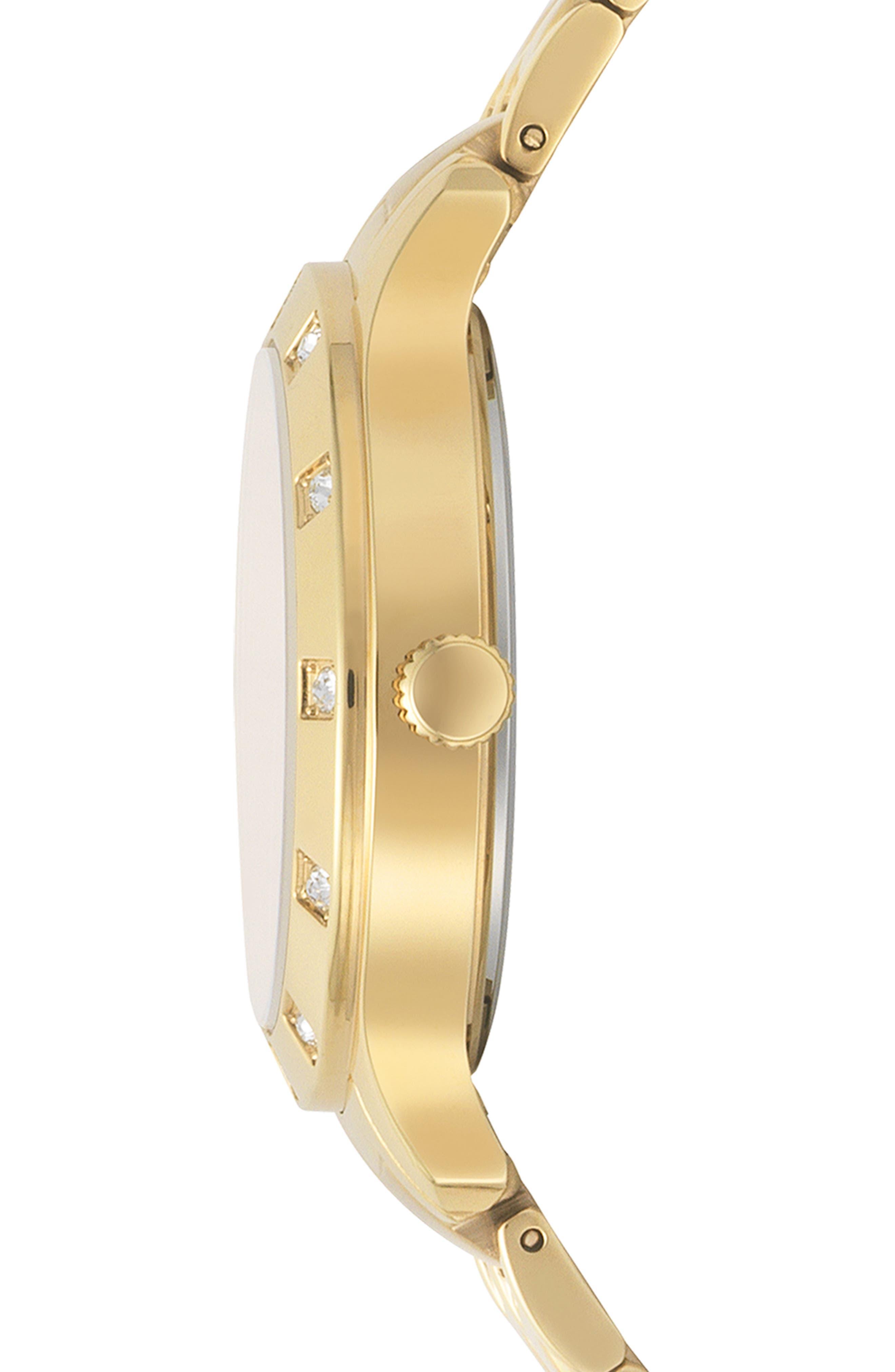 VERSUS VERSACE, Brackenfell Swarovski Bracelet Watch, 38mm, Alternate thumbnail 2, color, GOLD/ BLUE