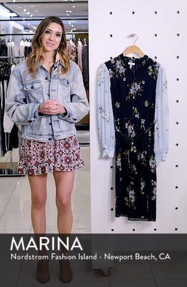 Abbryana Silk Chiffon High Neck Dress, sales video thumbnail