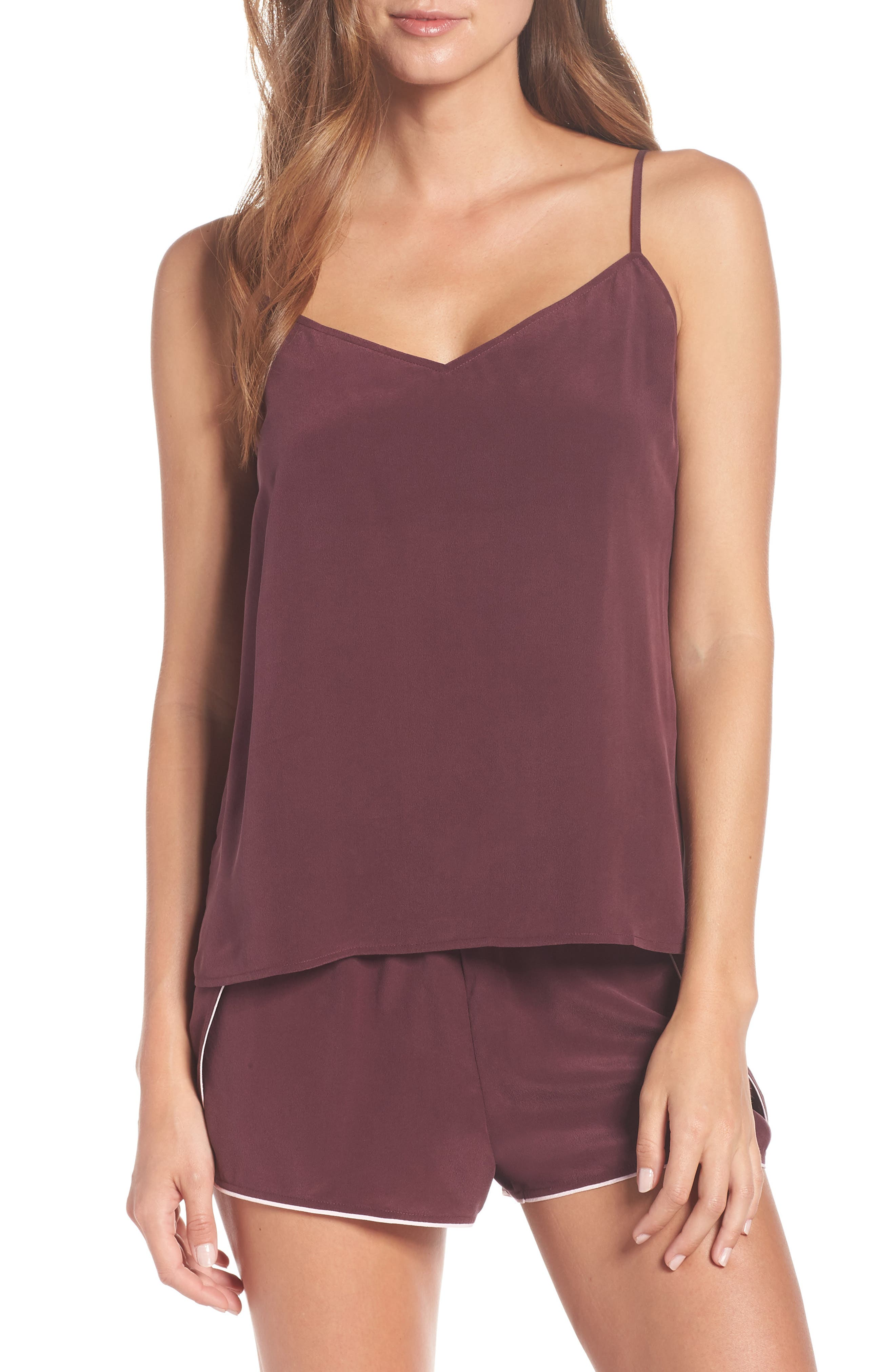 UGG<SUP>®</SUP>, Vita Silk Camisole, Alternate thumbnail 7, color, PORT