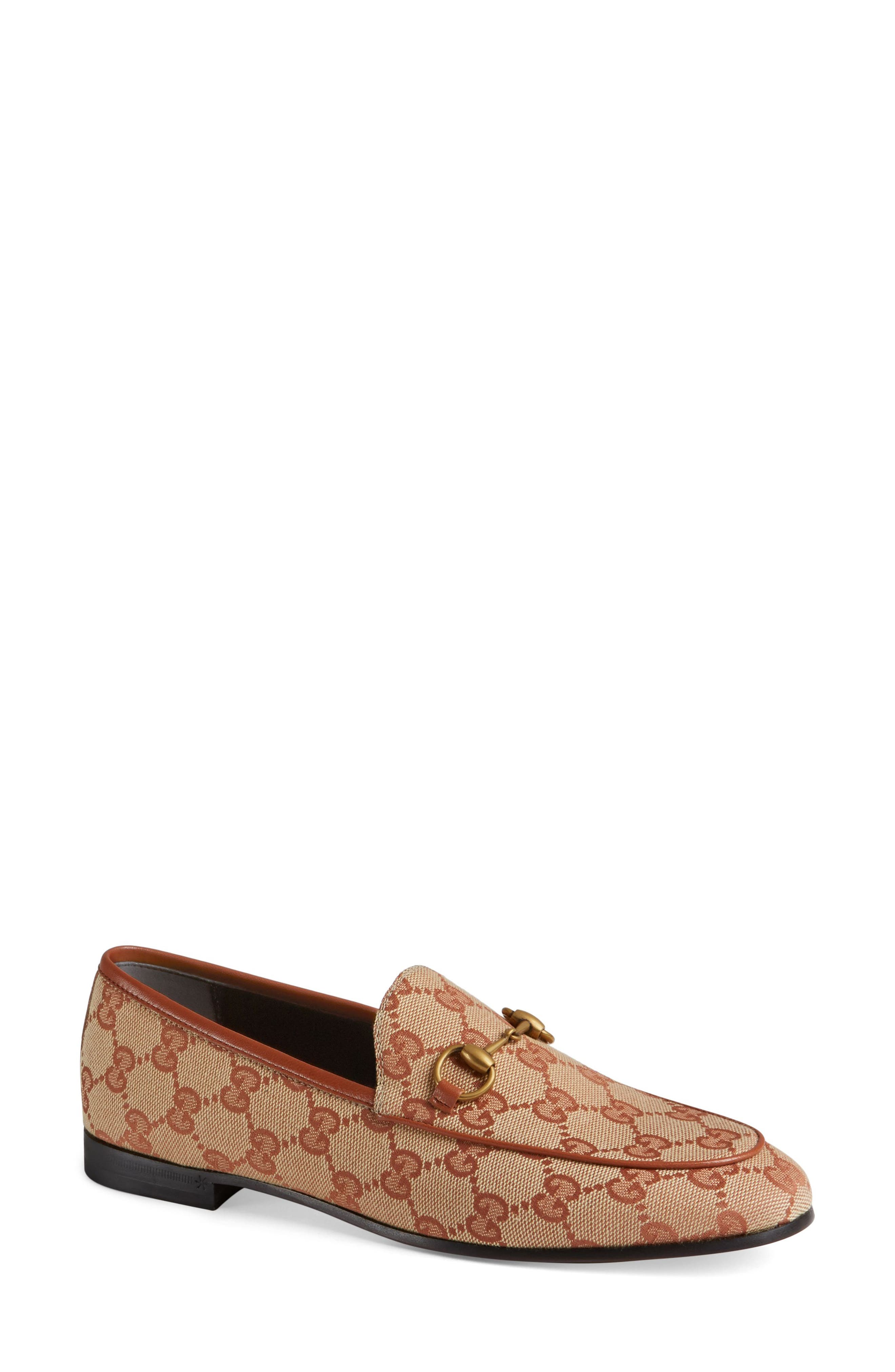 GUCCI, New Jordaan Loafer, Main thumbnail 1, color, BEIGE