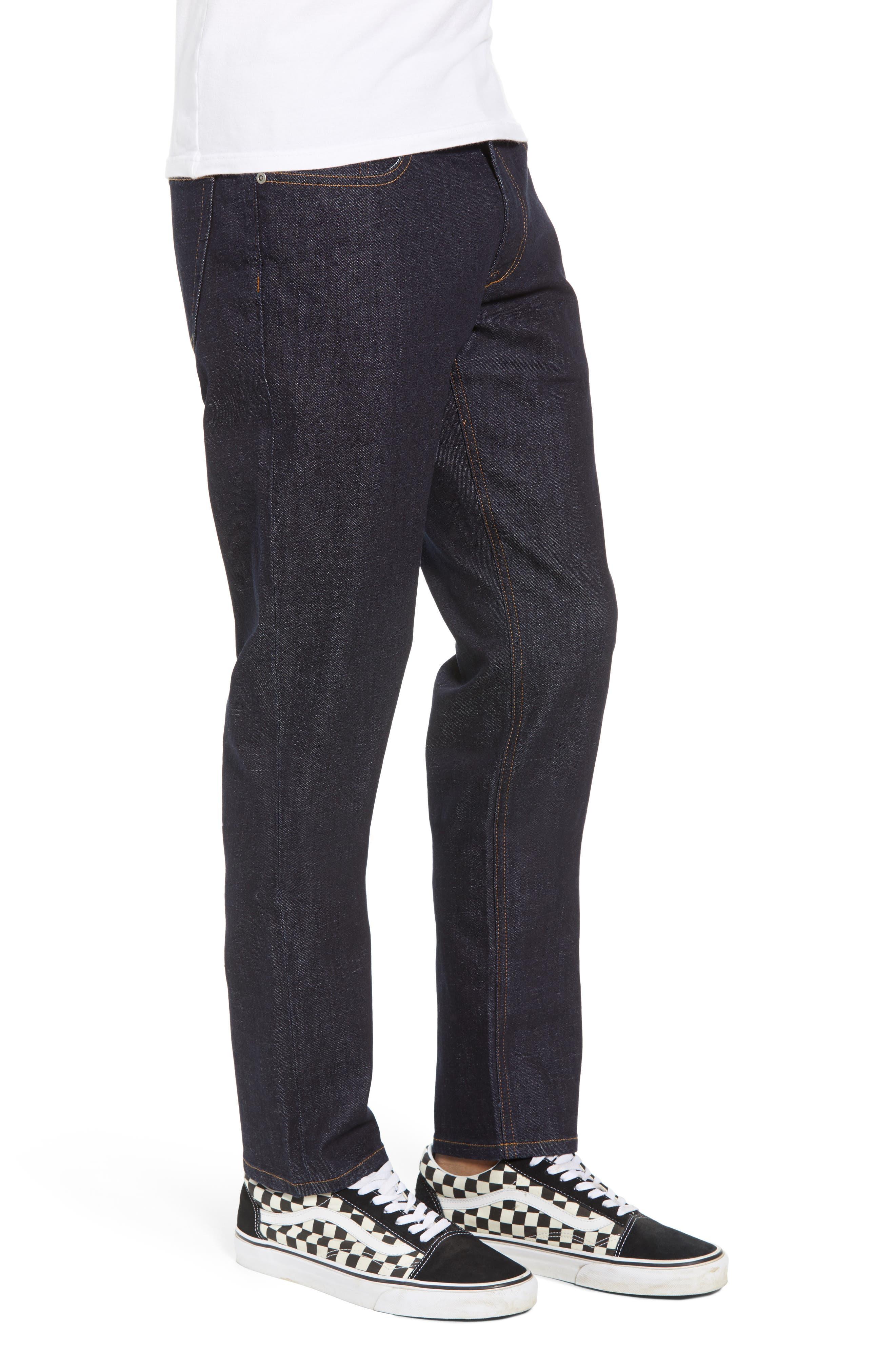 THE RAIL, Stretch Slim Leg Jeans, Alternate thumbnail 4, color, BLUE PERRY WASH