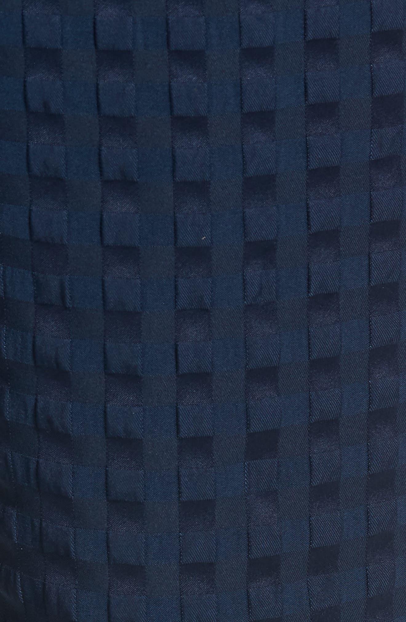 ADIDAS ORIGINALS, Check Seersucker Track Pants, Alternate thumbnail 6, color, COLLEGIATE NAVY