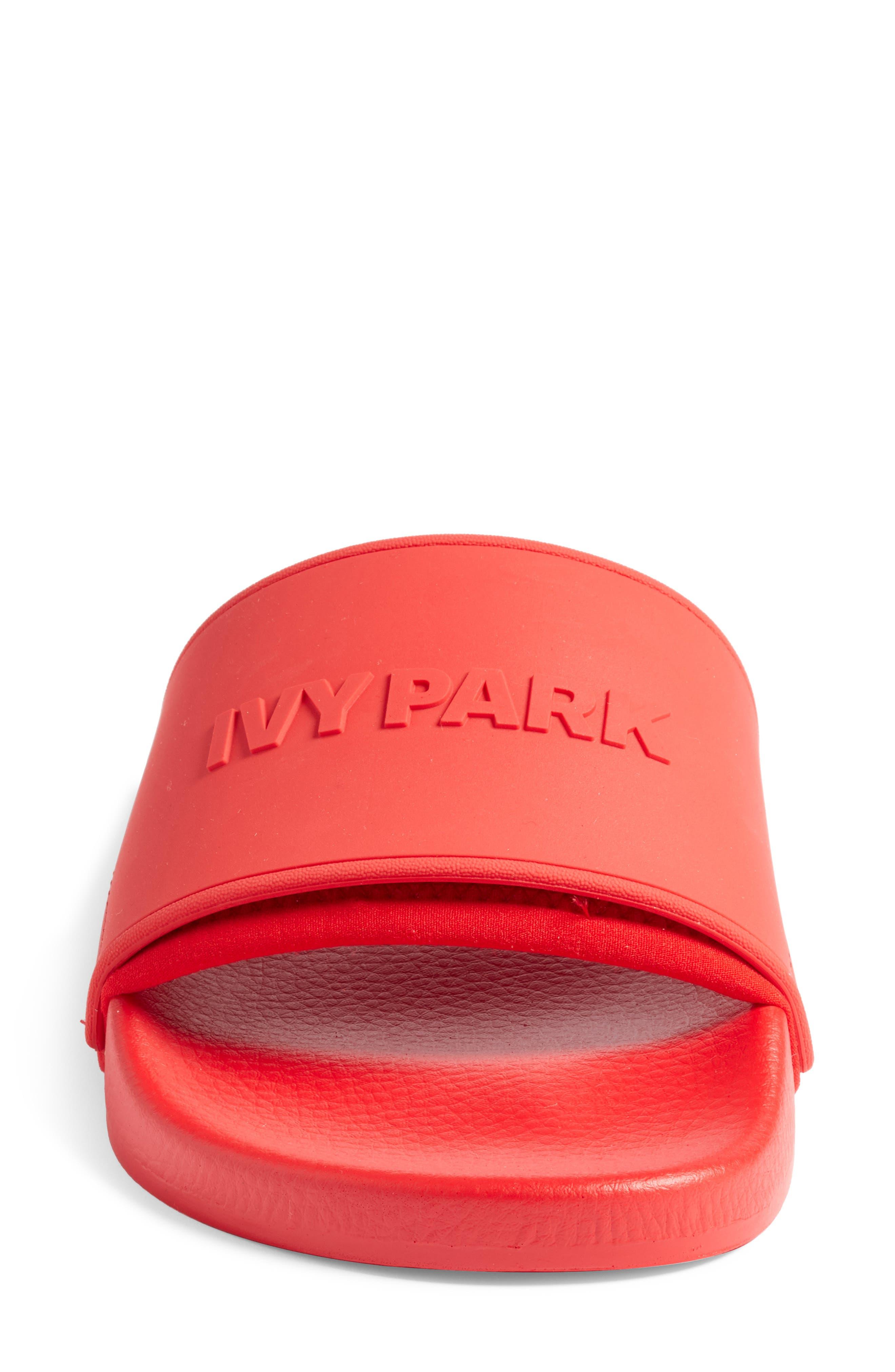 IVY PARK<SUP>®</SUP>, Embossed Logo Slide Sandal, Alternate thumbnail 4, color, 600