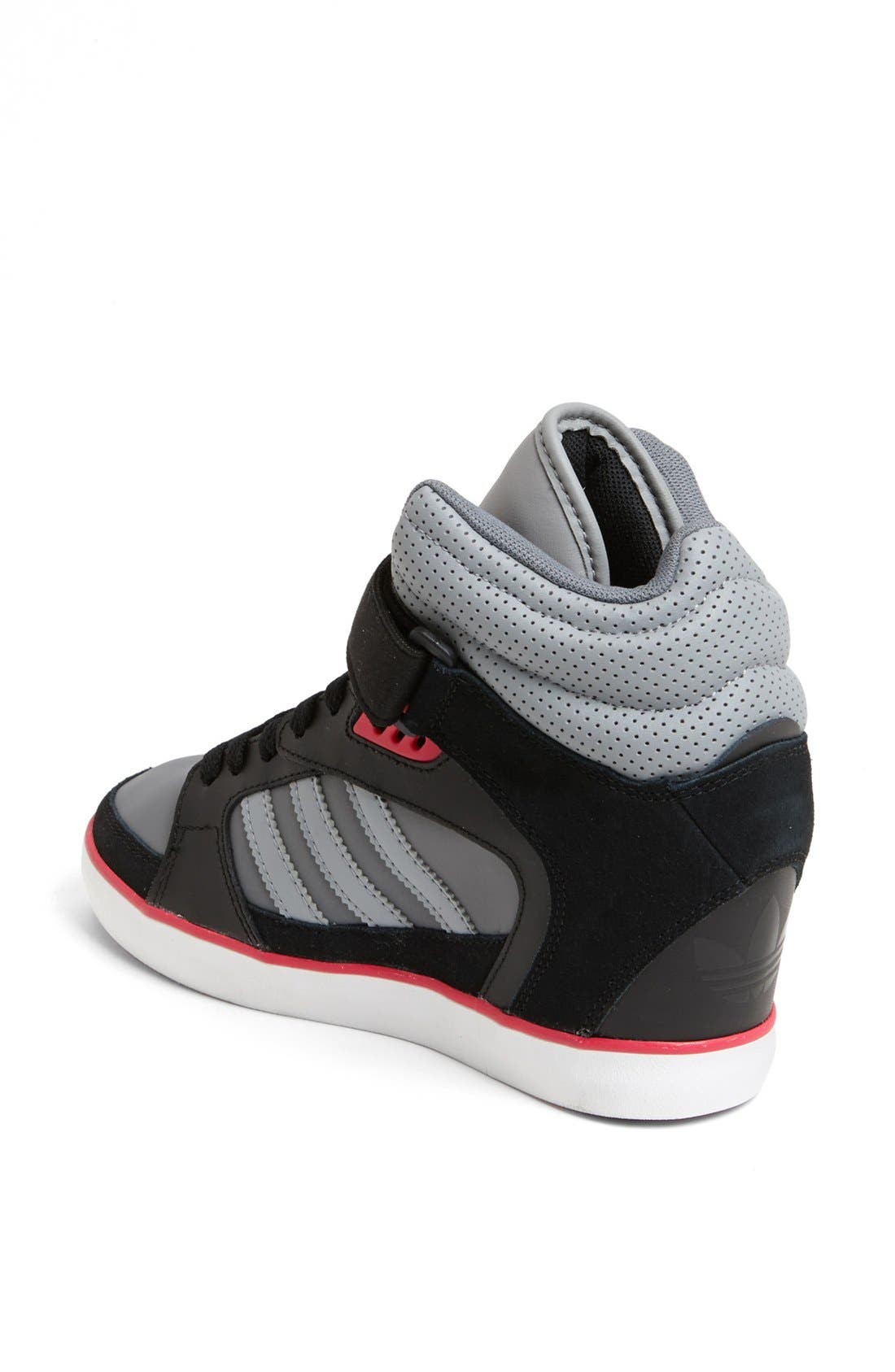 ADIDAS, 'Amberlight Up' Basketball Wedge Sneaker, Alternate thumbnail 2, color, 001