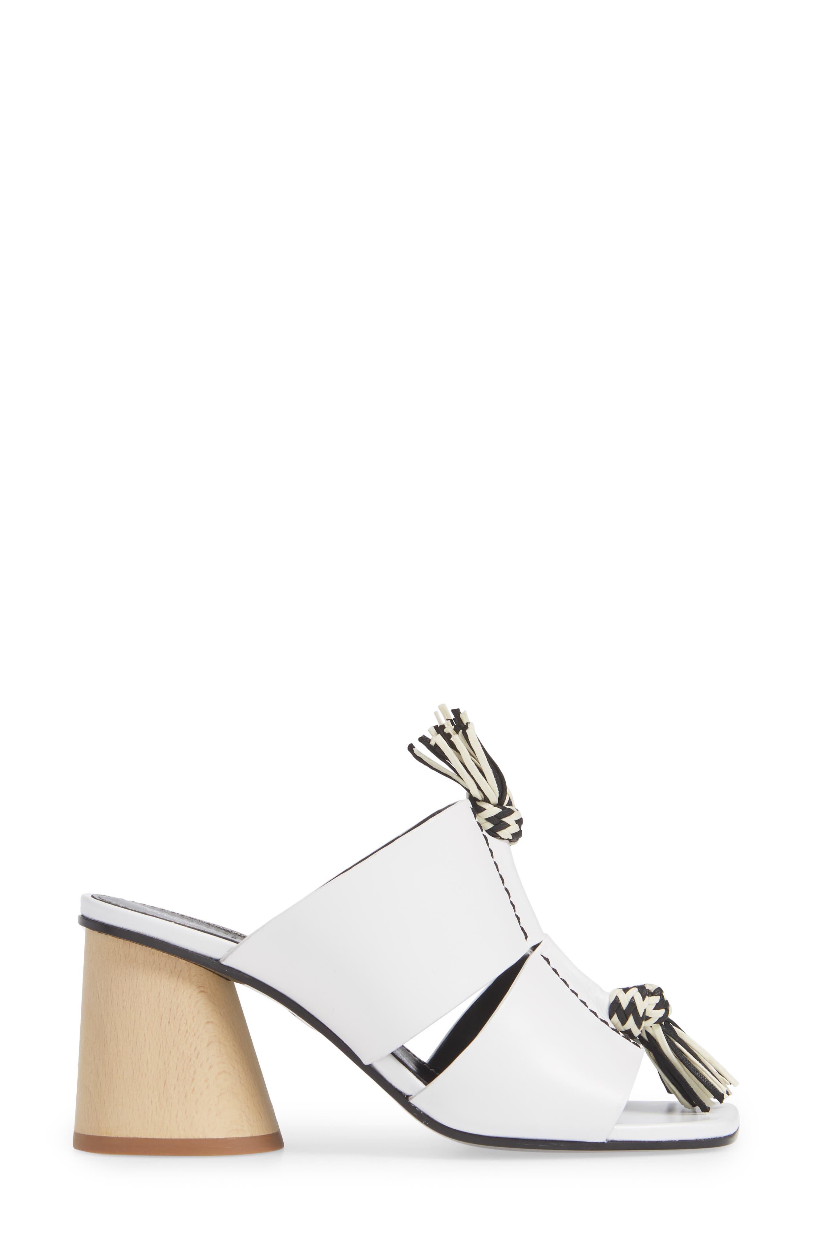 PROENZA SCHOULER, Cylinder Heel Slide Sandal, Alternate thumbnail 3, color, WHITE