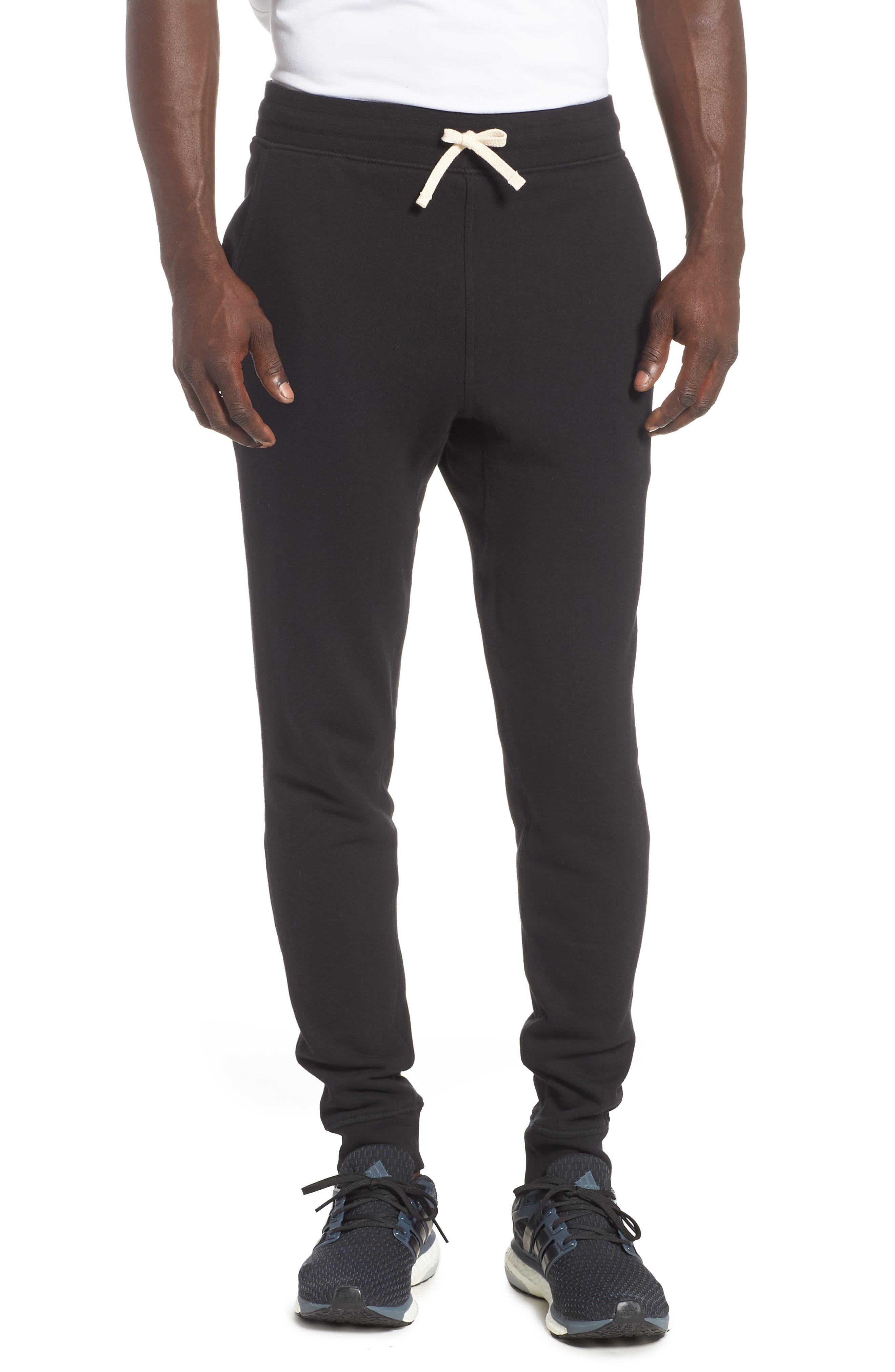 RICHER POORER Cotton Lounge Pants, Main, color, BLACK