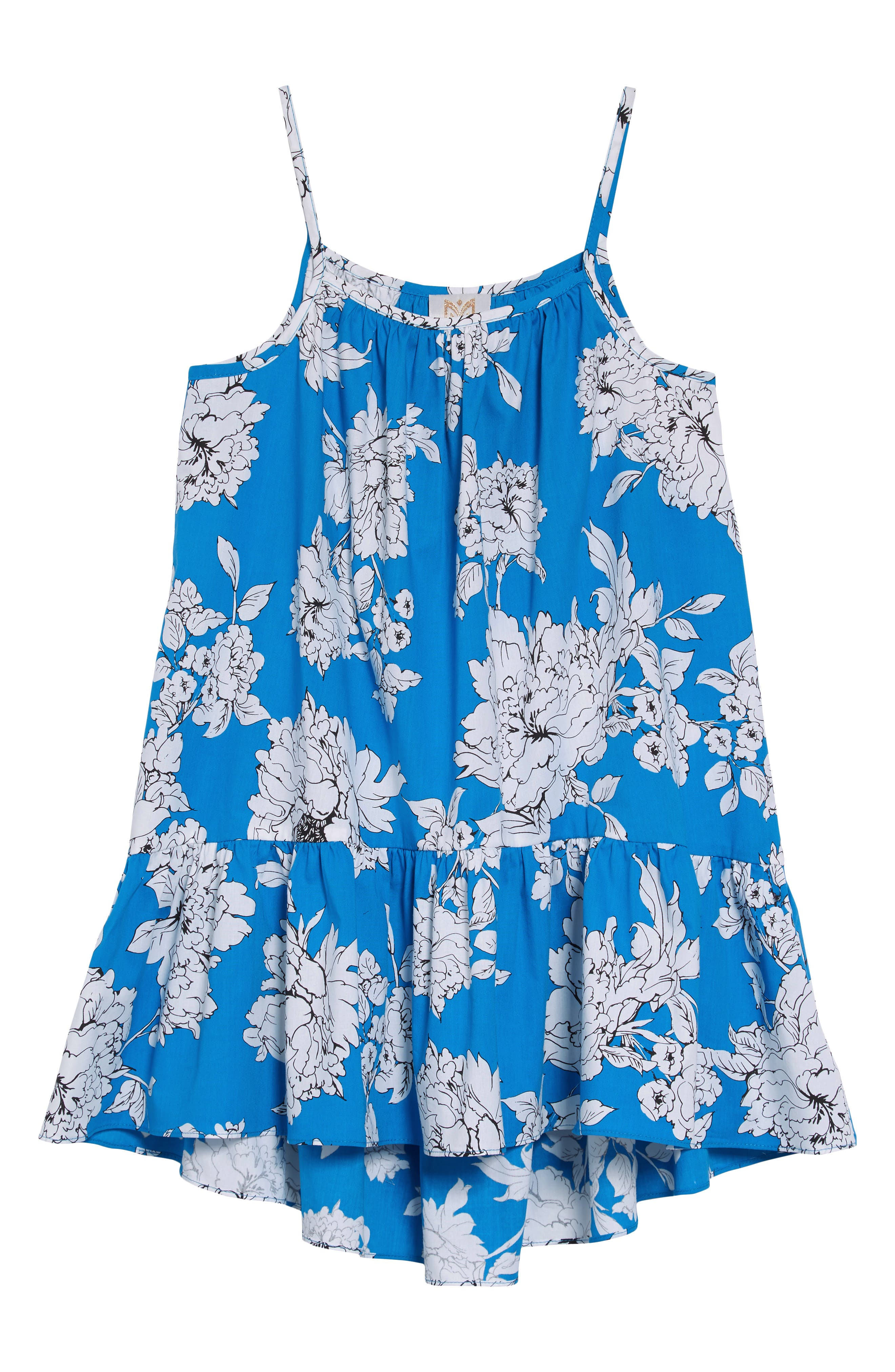 Girls Milly Minis Highlow CoverUp Size 10  Blue