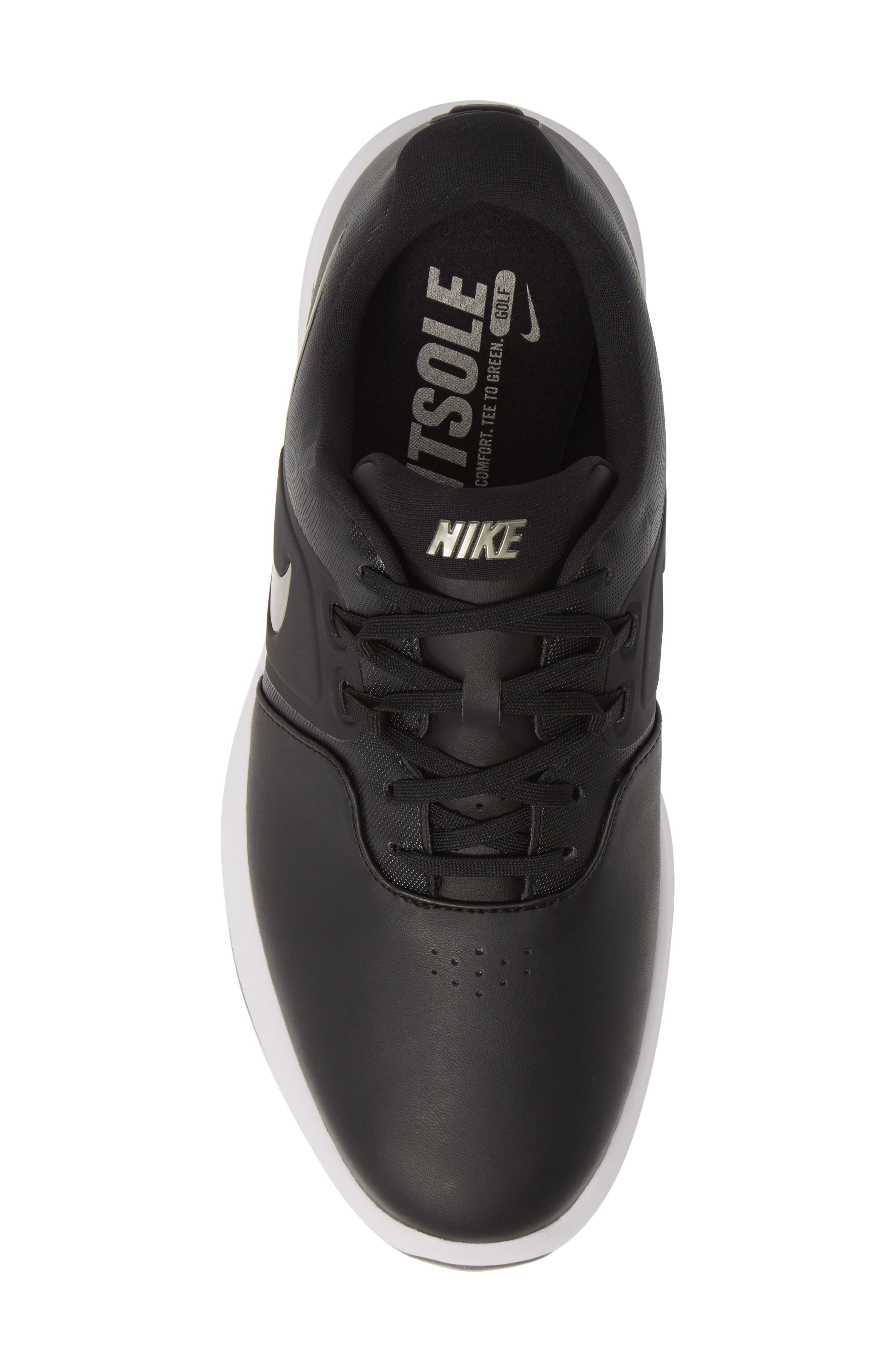 NIKE, Air Zoom Victory Golf Shoe, Alternate thumbnail 5, color, BLACK/ PEWTER/ VAST GREY