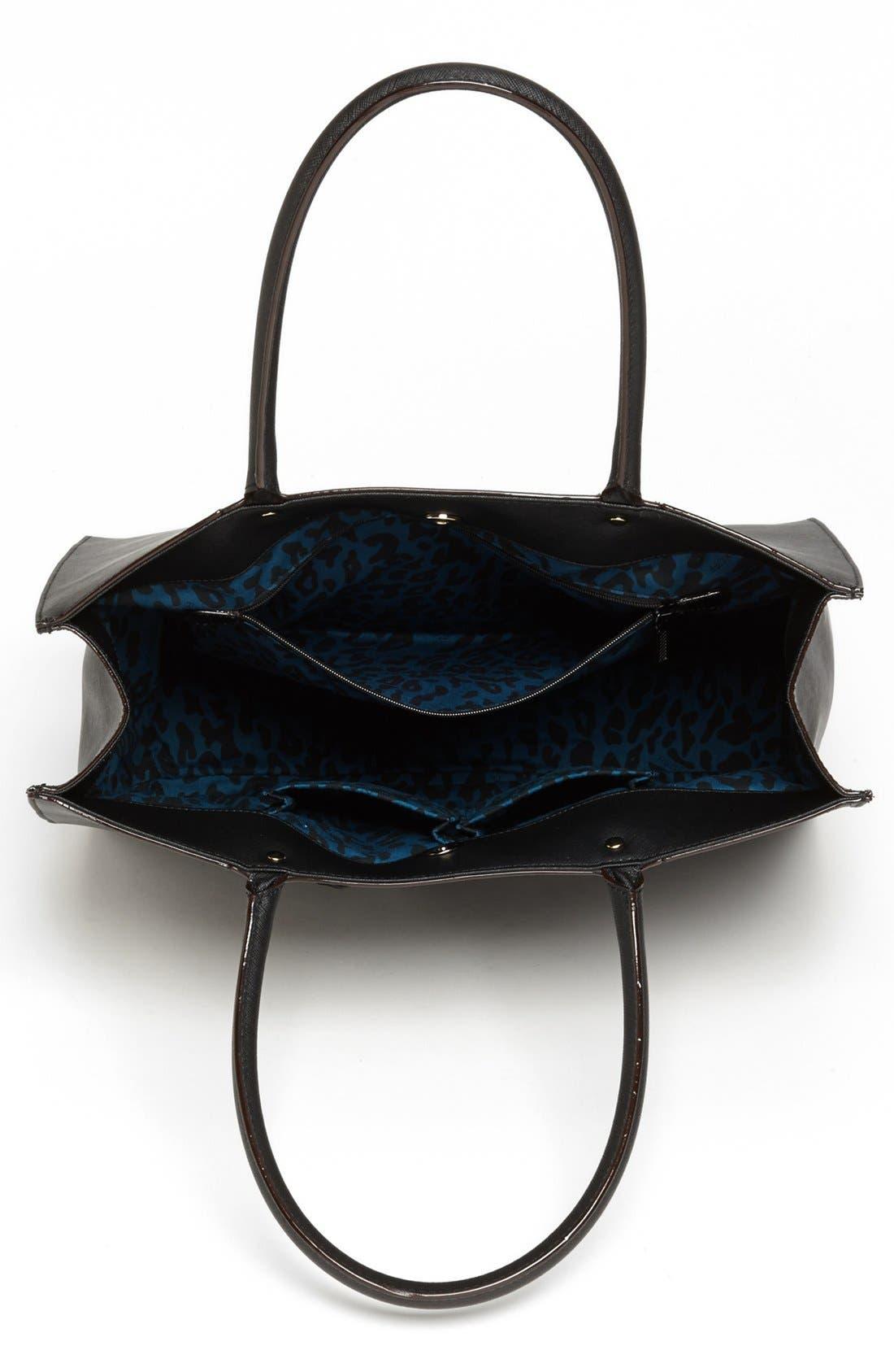 REBECCA MINKOFF, 'Medium MAB' Saffiano Leather Tote, Alternate thumbnail 4, color, 001