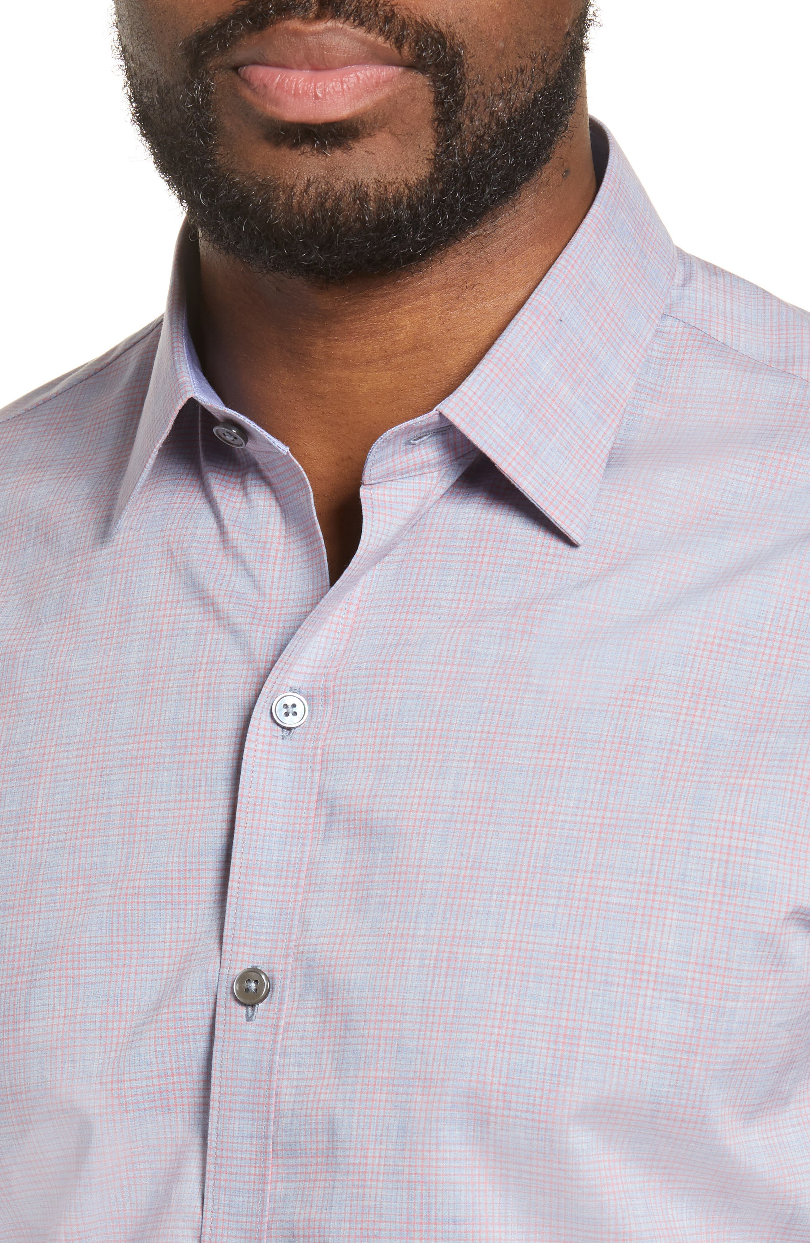 ZACHARY PRELL, Buckland Regular Fit Sport Shirt, Alternate thumbnail 2, color, FLAMINGO