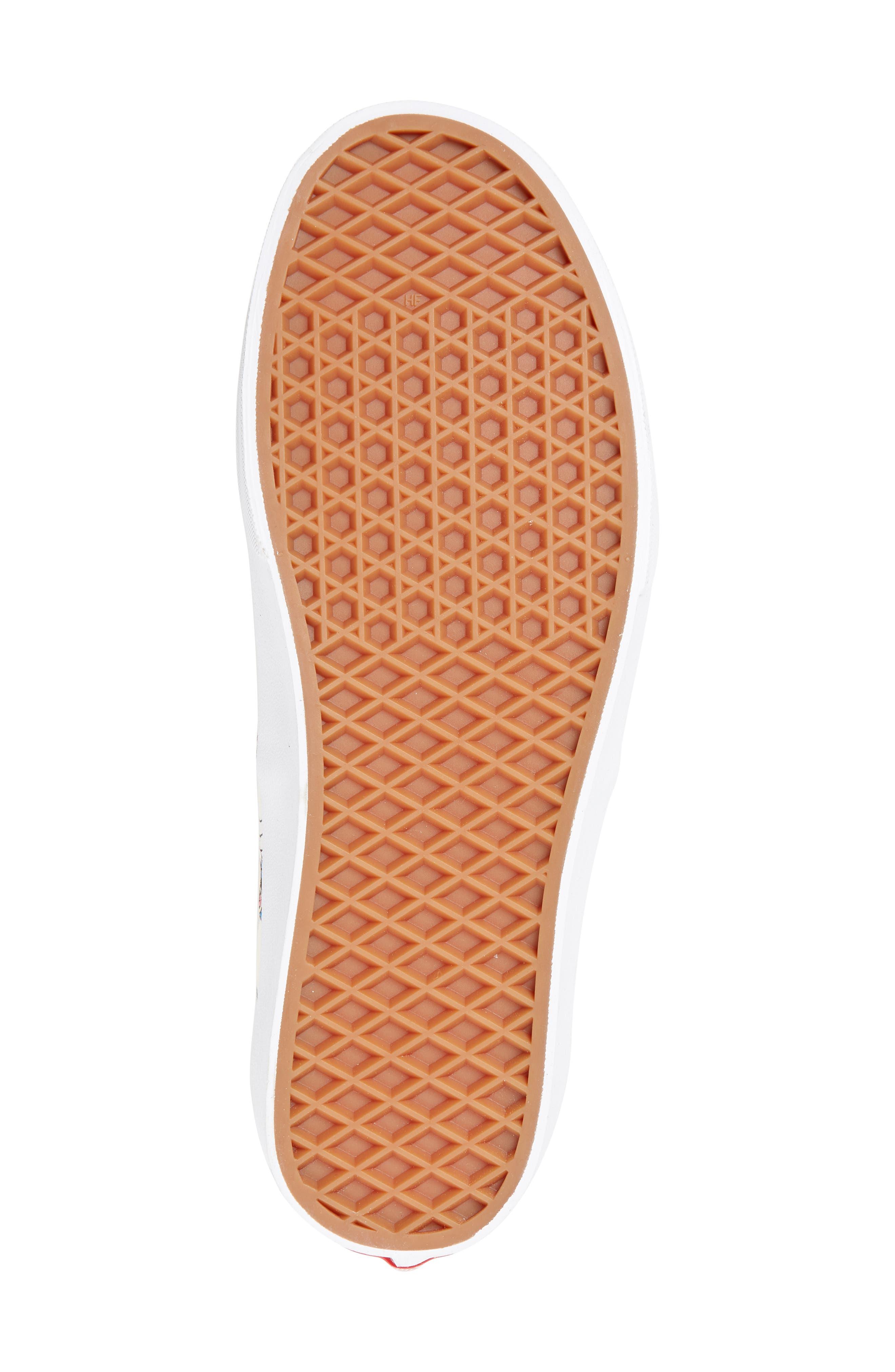 VANS, x Disney Authentic Low Top Sneaker, Alternate thumbnail 6, color, 250