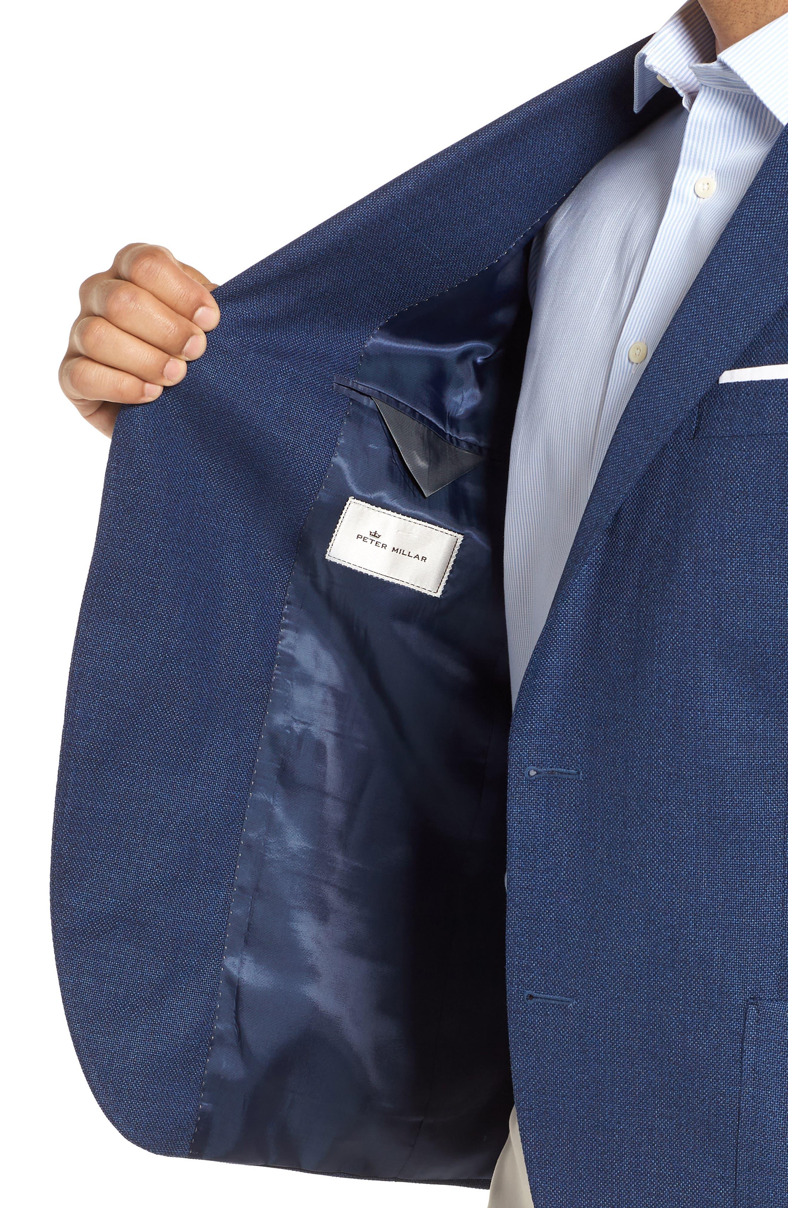 PETER MILLAR, Hyperlight Classic Fit Wool Sport Coat, Alternate thumbnail 4, color, 400