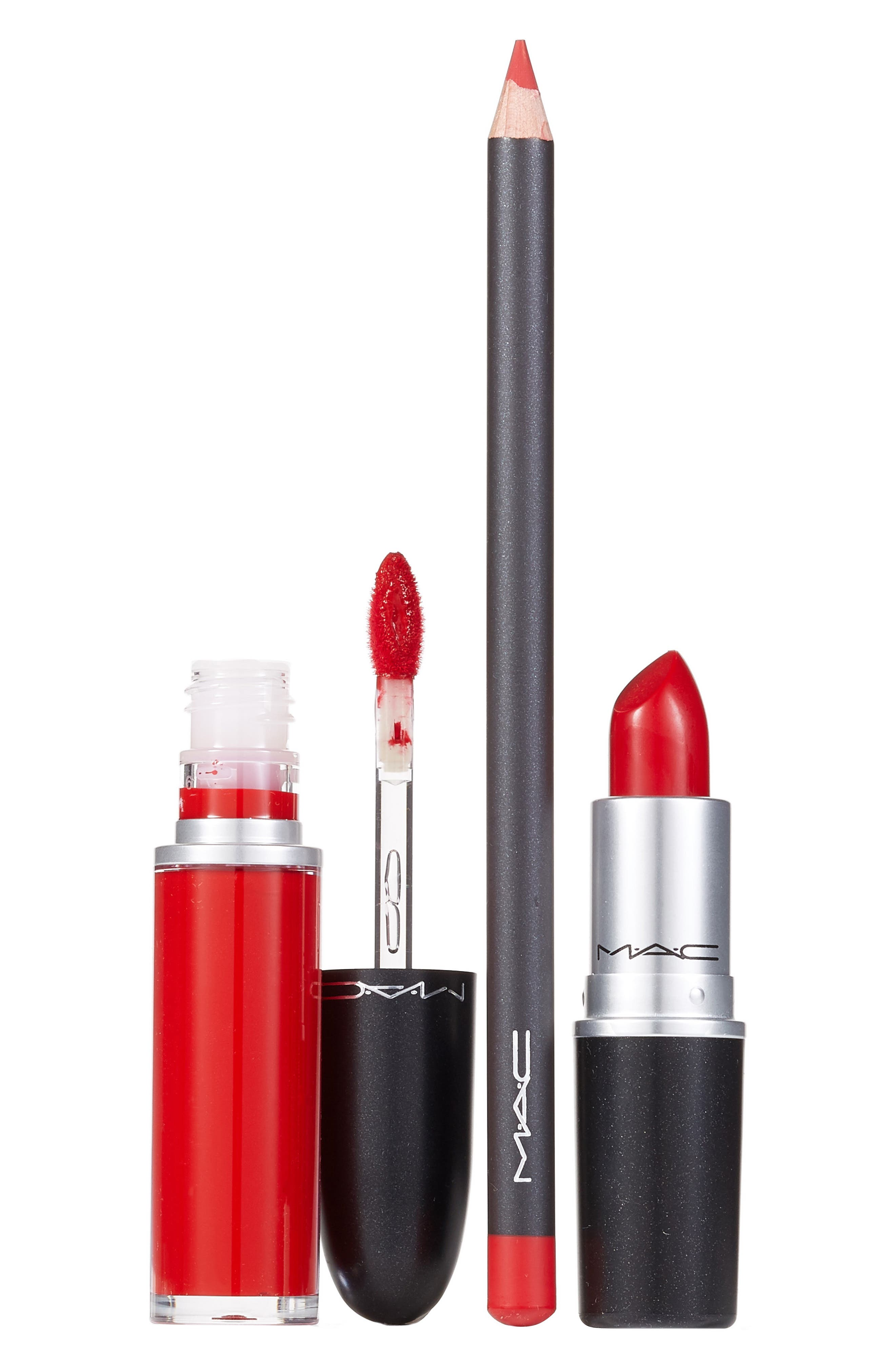 MAC COSMETICS MAC Red Lip Kit, Main, color, NO COLOR