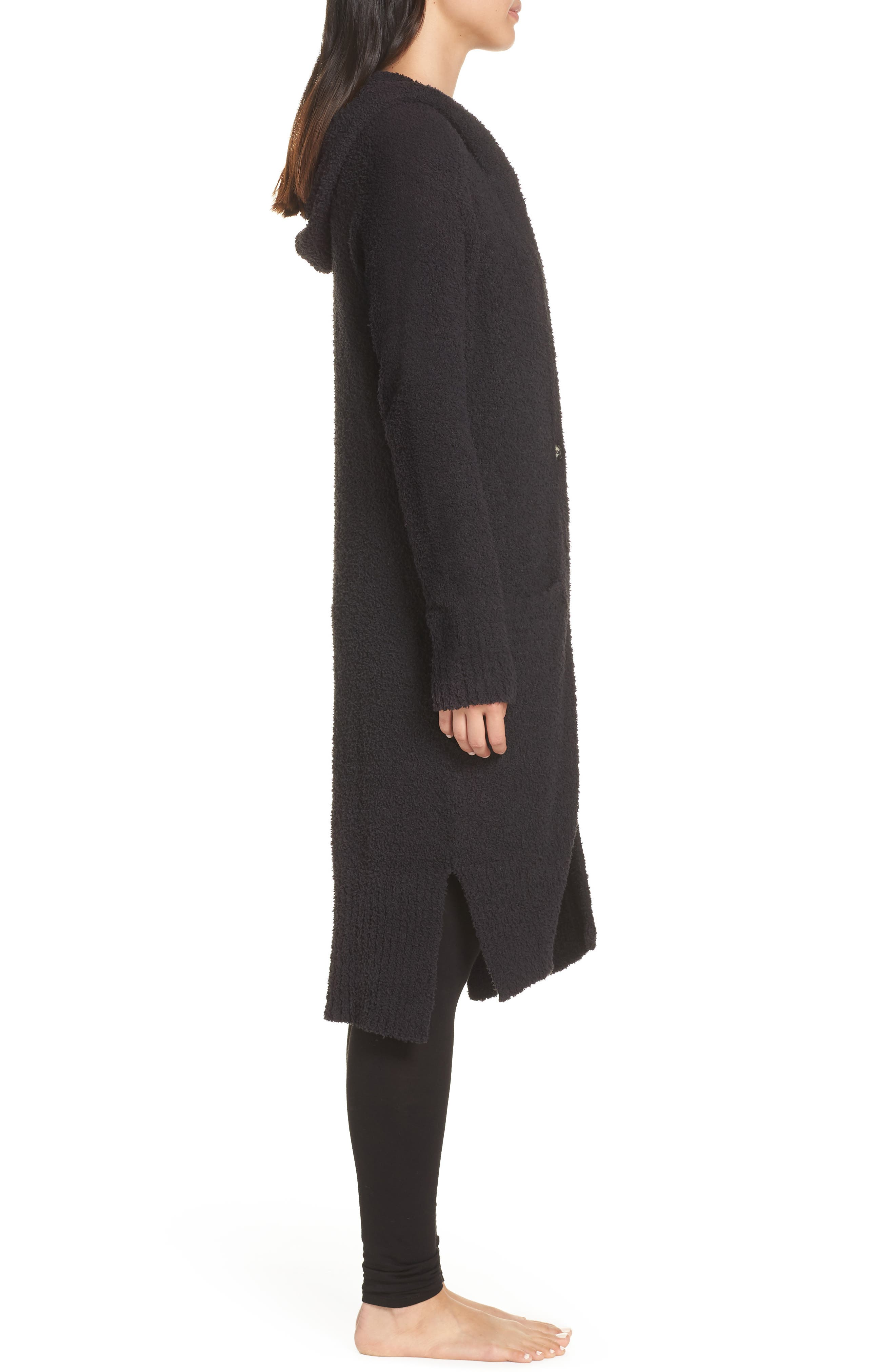 UGG<SUP>®</SUP>, Judith Long Cardigan, Alternate thumbnail 3, color, BLACK