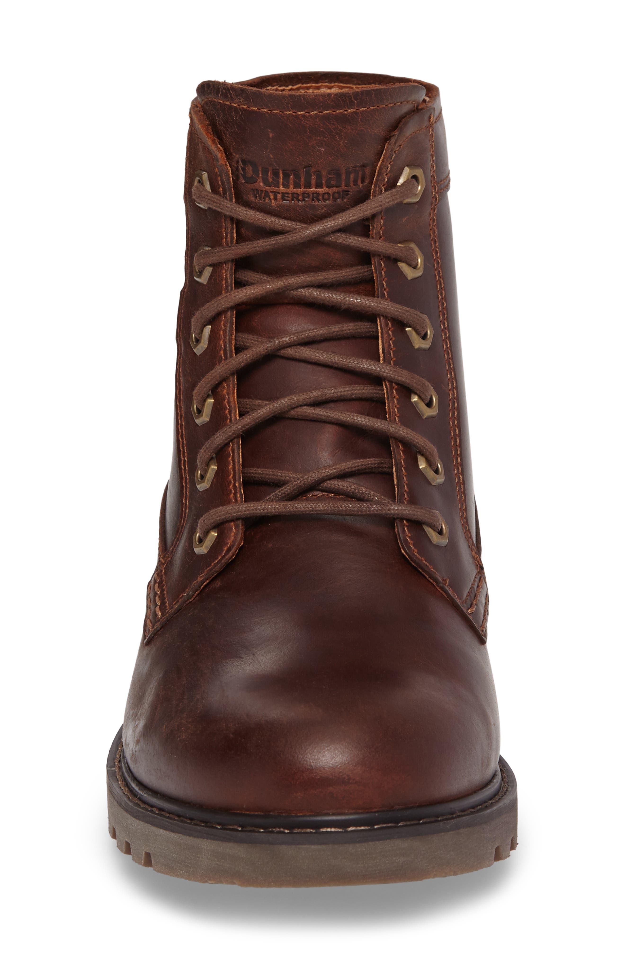 DUNHAM, Royalton Plain Toe Boot, Alternate thumbnail 4, color, BROWN