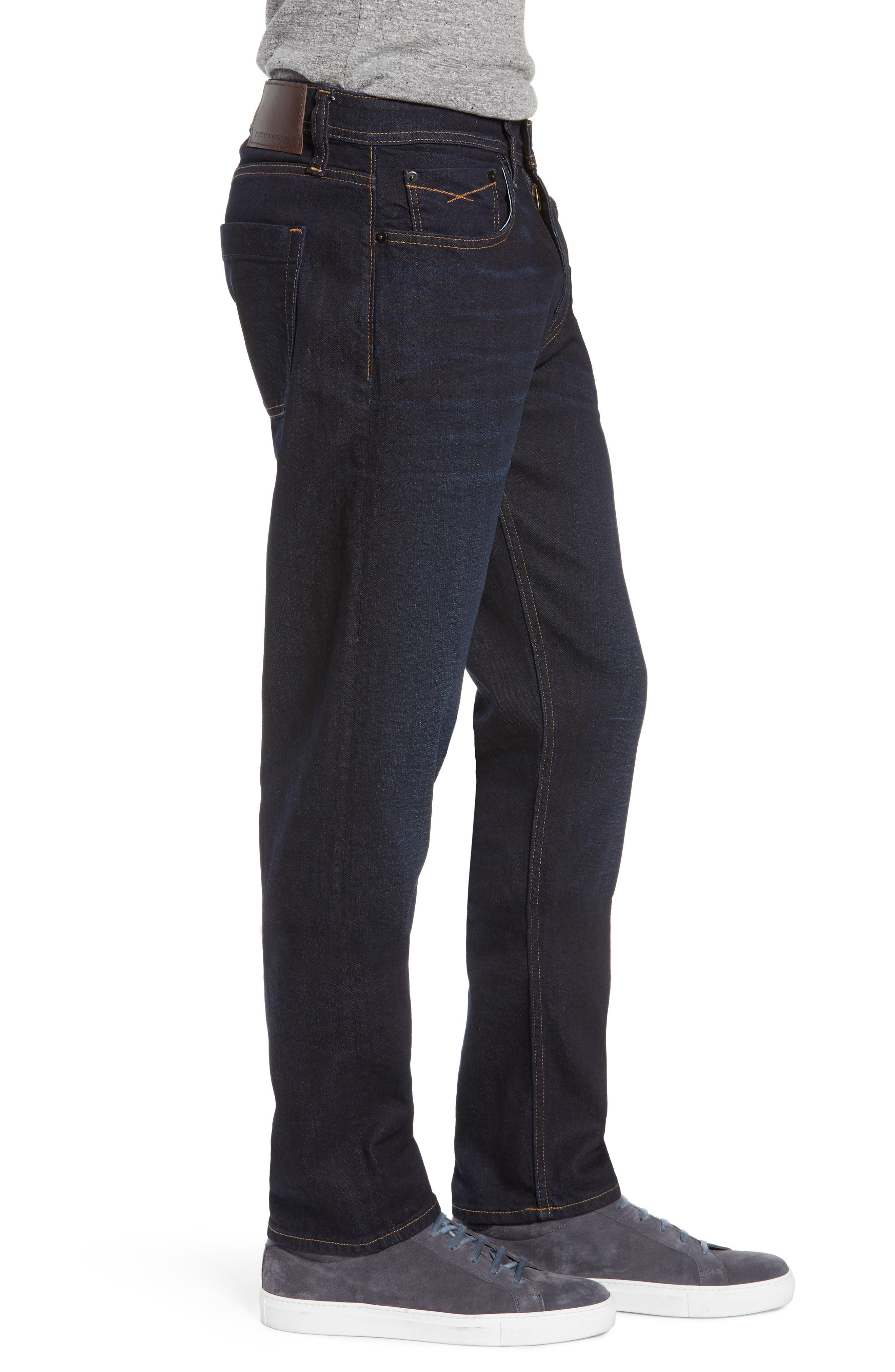 REVTOWN, Sharp Slim Fit Jeans, Alternate thumbnail 3, color, DARK INDIGO