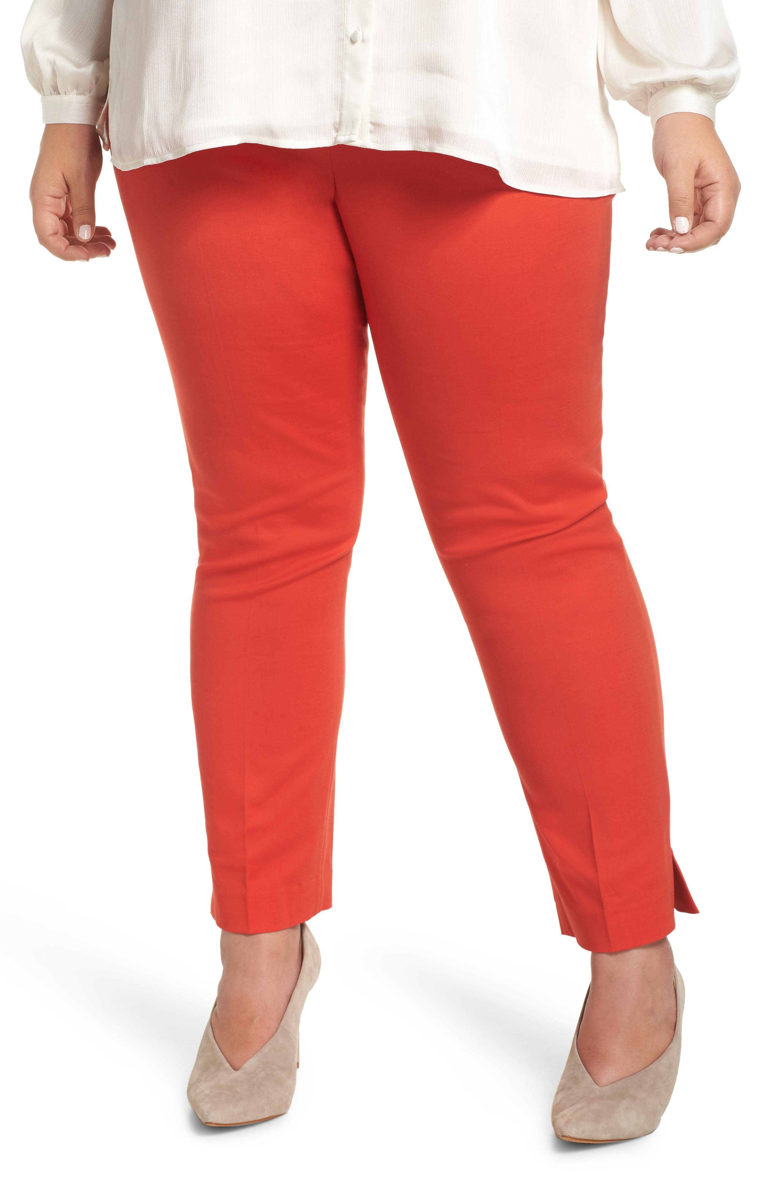 VINCE CAMUTO Vented Cuff Slim Pants, Main, color, 600