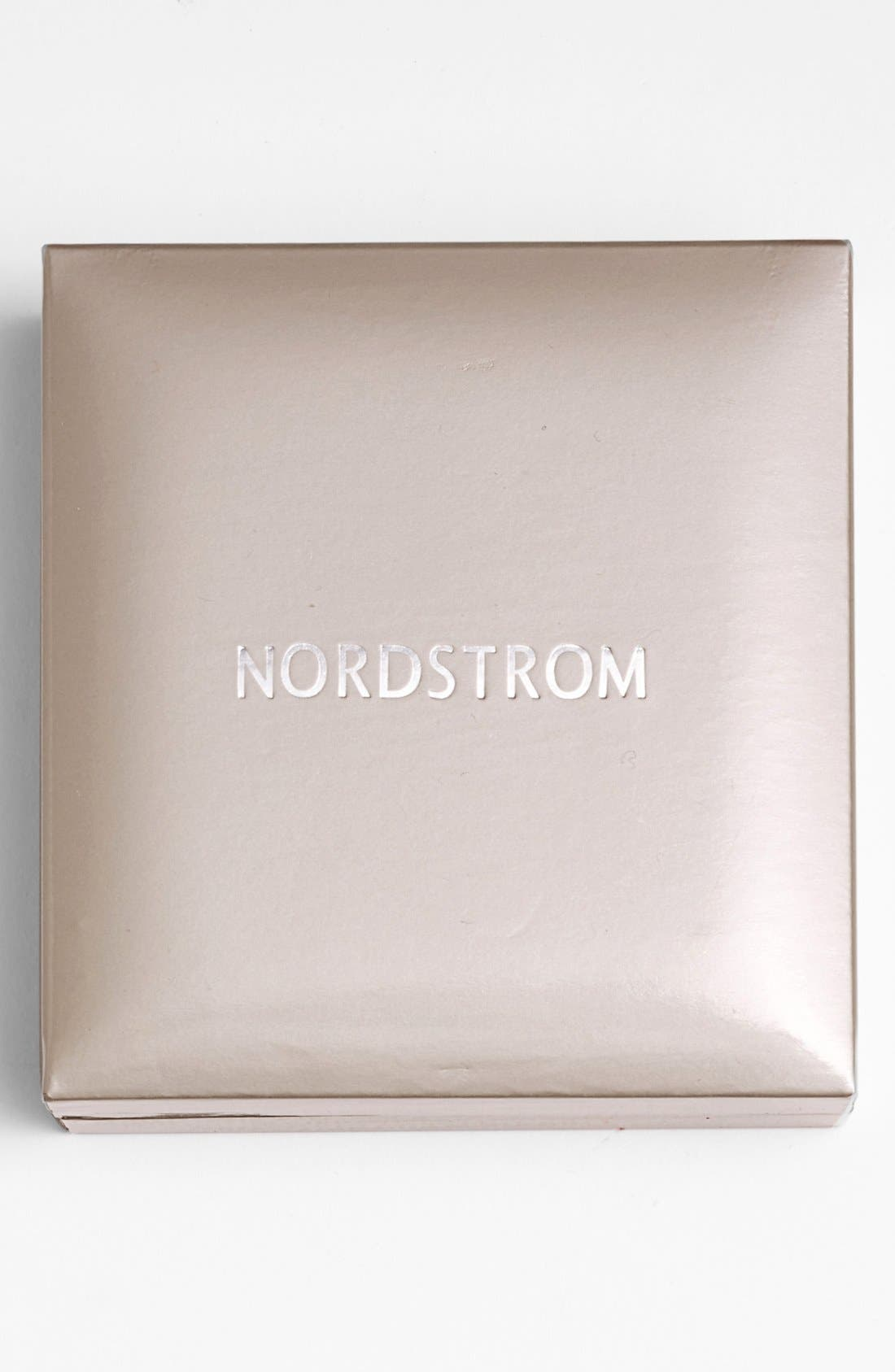 NORDSTROM, 1ct tw Cubic Zirconia Earrings, Alternate thumbnail 3, color, ROSE GOLD