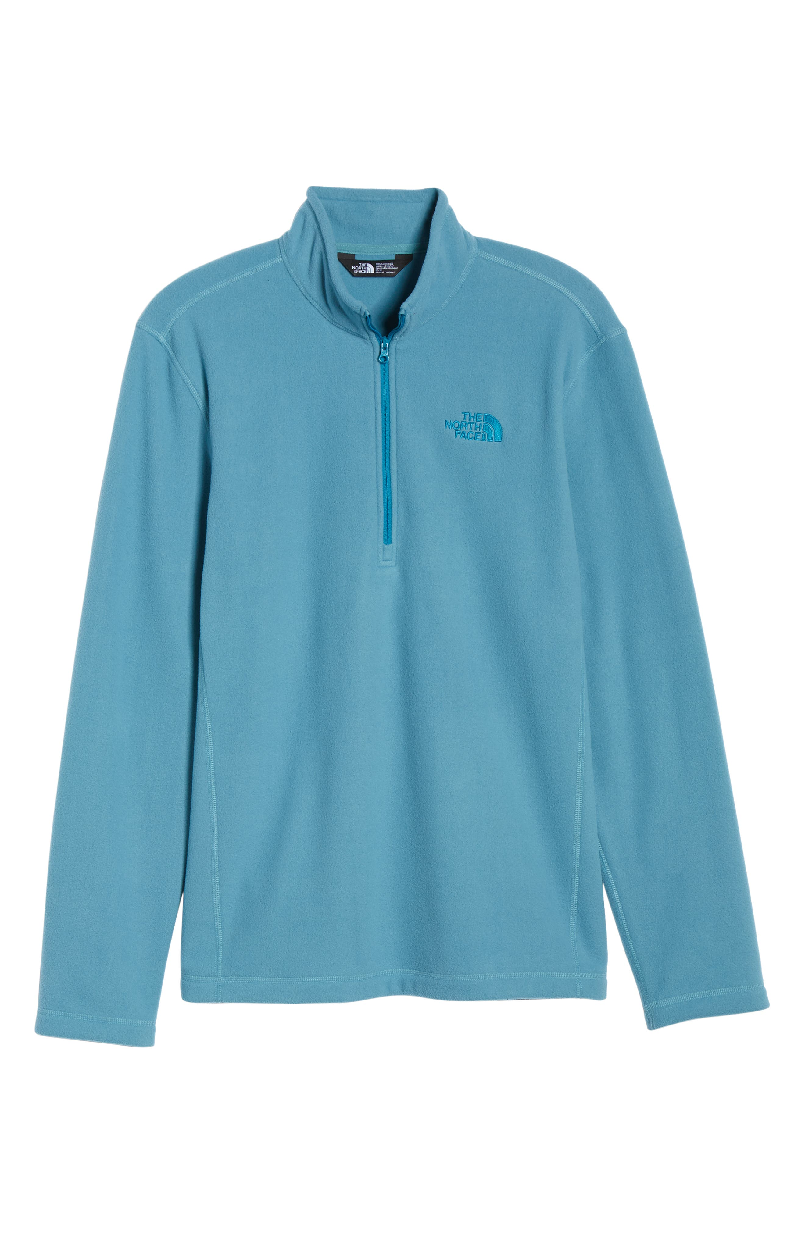THE NORTH FACE, 'TKA 100 Glacier' Quarter Zip Fleece Pullover, Alternate thumbnail 7, color, AZTEC BLUE