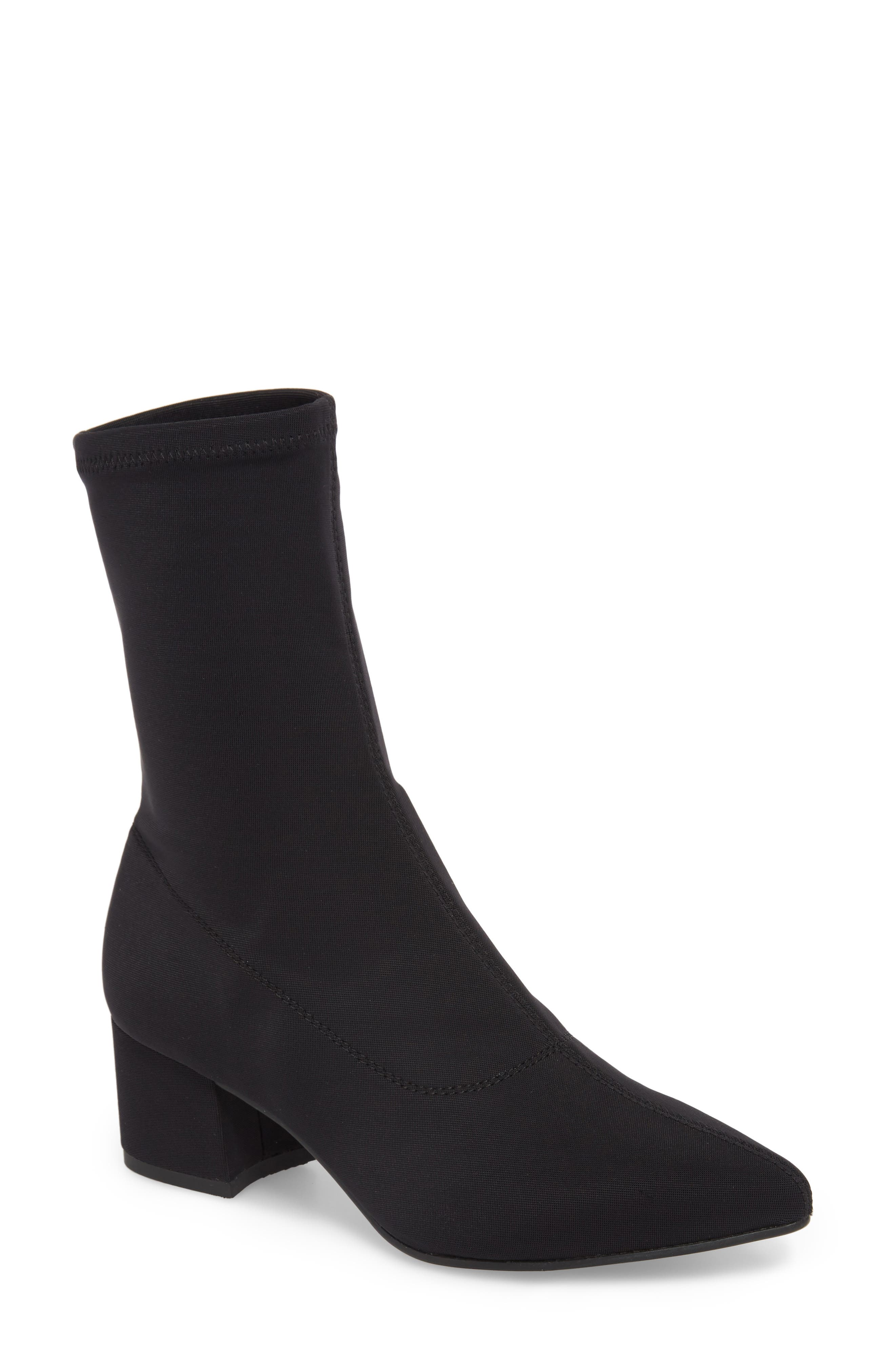 VAGABOND, Shoemakers Maya Stretch Bootie, Main thumbnail 1, color, BLACK FABRIC