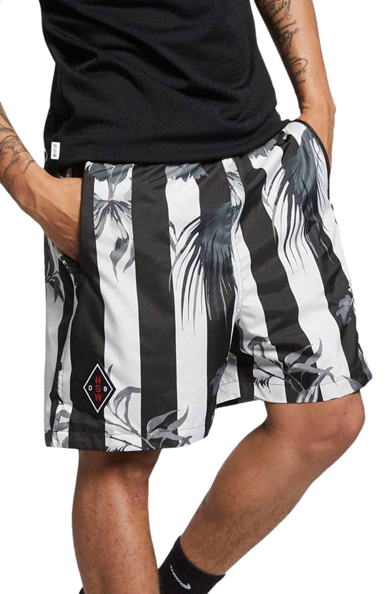 NIKE, Sportswear NSW Men's Shorts, Main thumbnail 1, color, BLACK/ WHITE