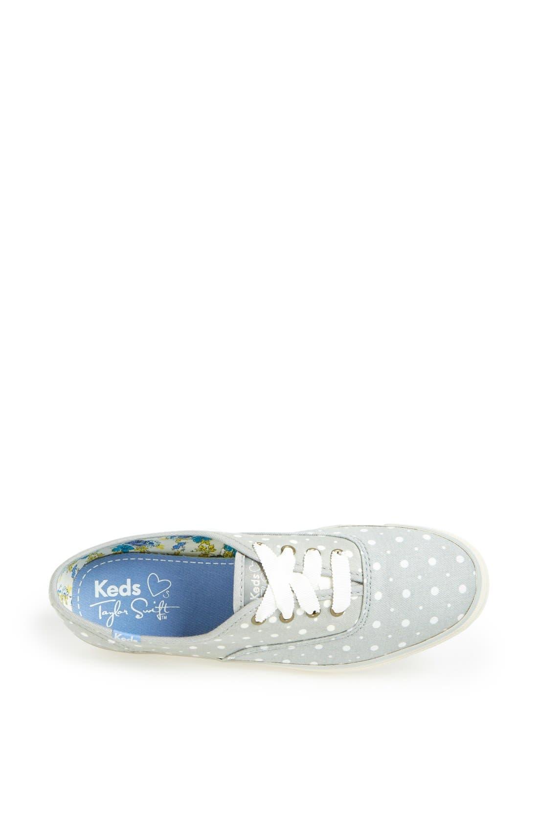 KEDS<SUP>®</SUP>, Taylor Swift Polka Dot Sneaker, Alternate thumbnail 4, color, 020