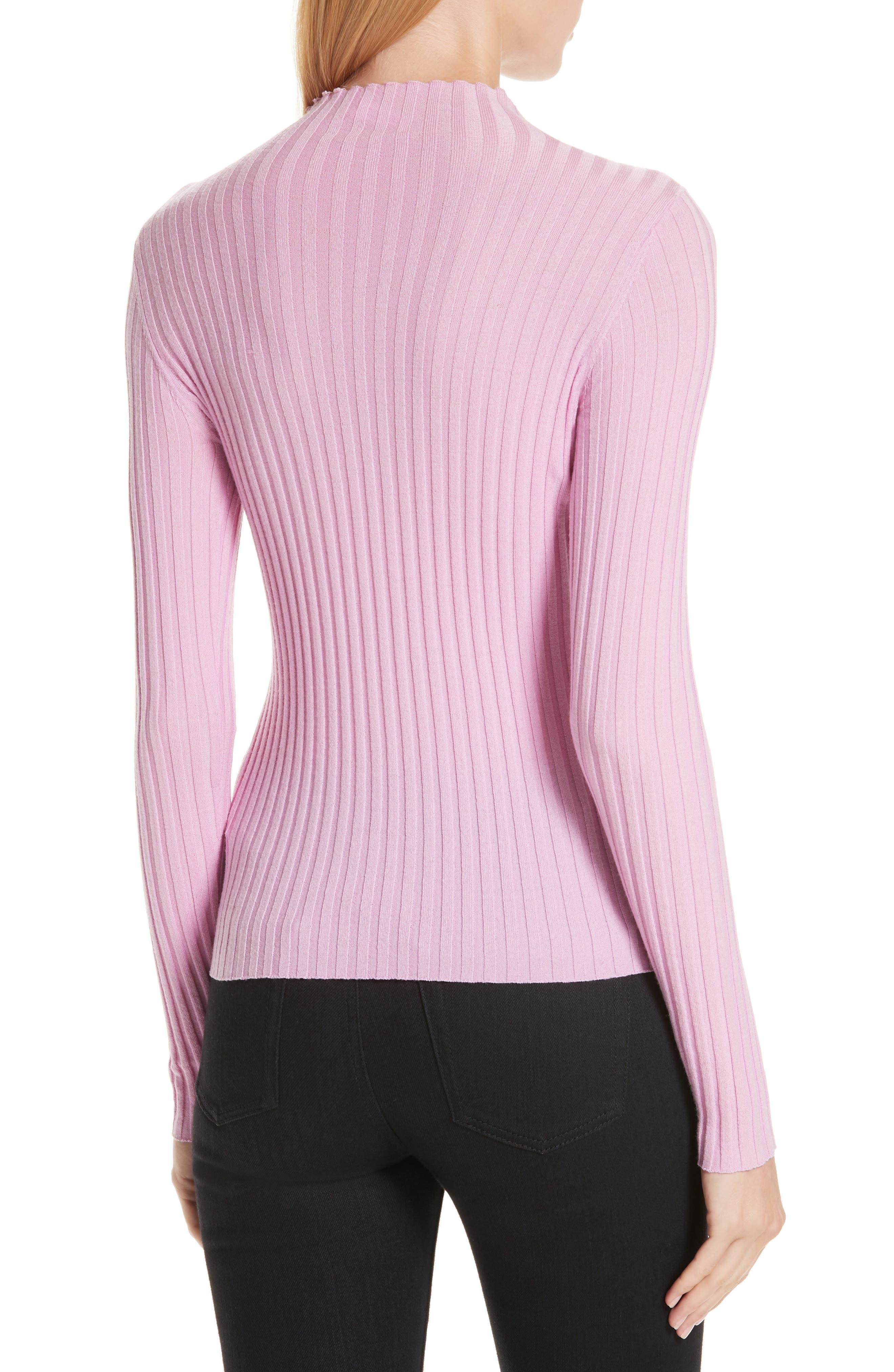 A.L.C., Lamont Funnel Neck Sweater, Alternate thumbnail 2, color, BUBBLEGUM