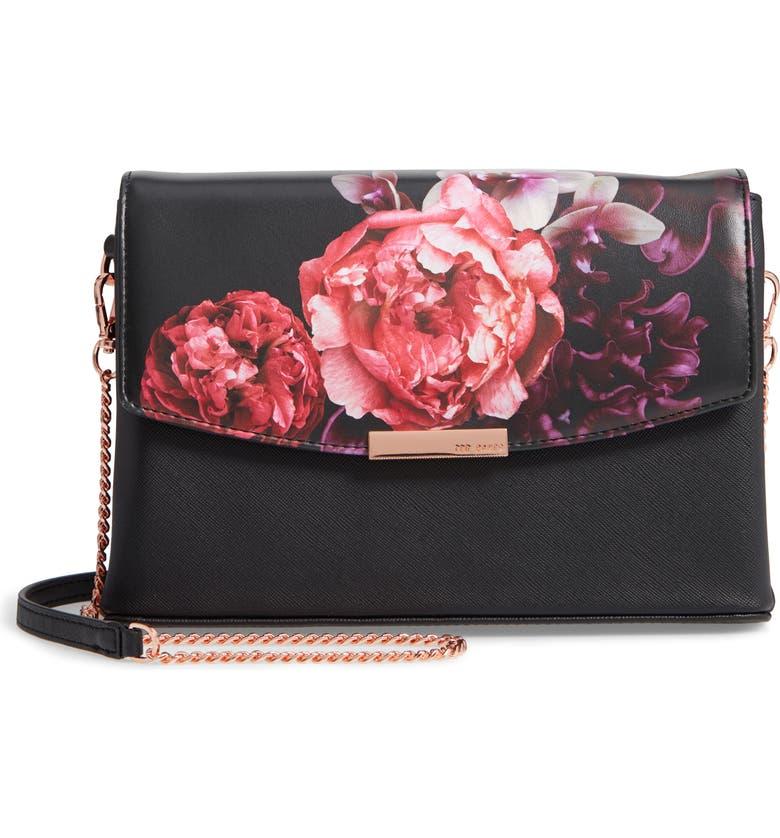 095451c7e Ted Baker London Viickky Splendour Print Faux Leather Crossbody Bag ...