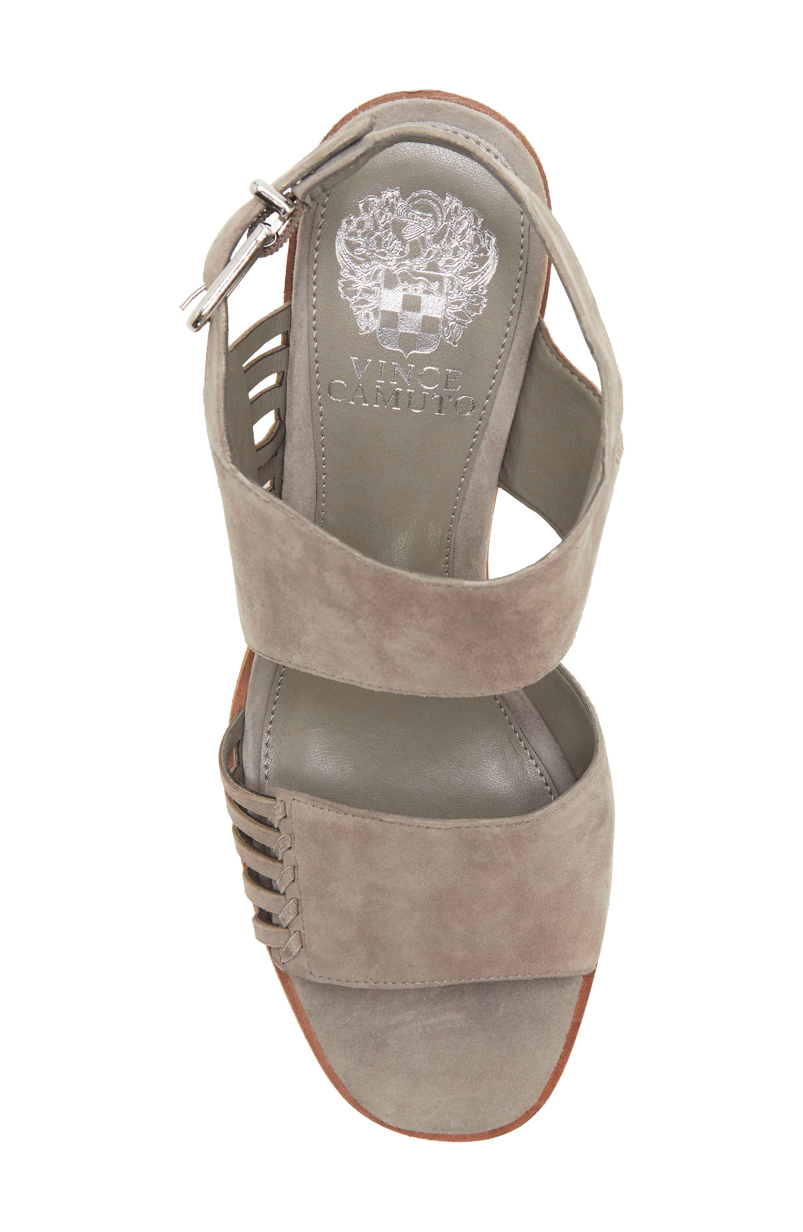 VINCE CAMUTO, Karmelo Slingback Sandal, Alternate thumbnail 5, color, STORM GREY LEATHER