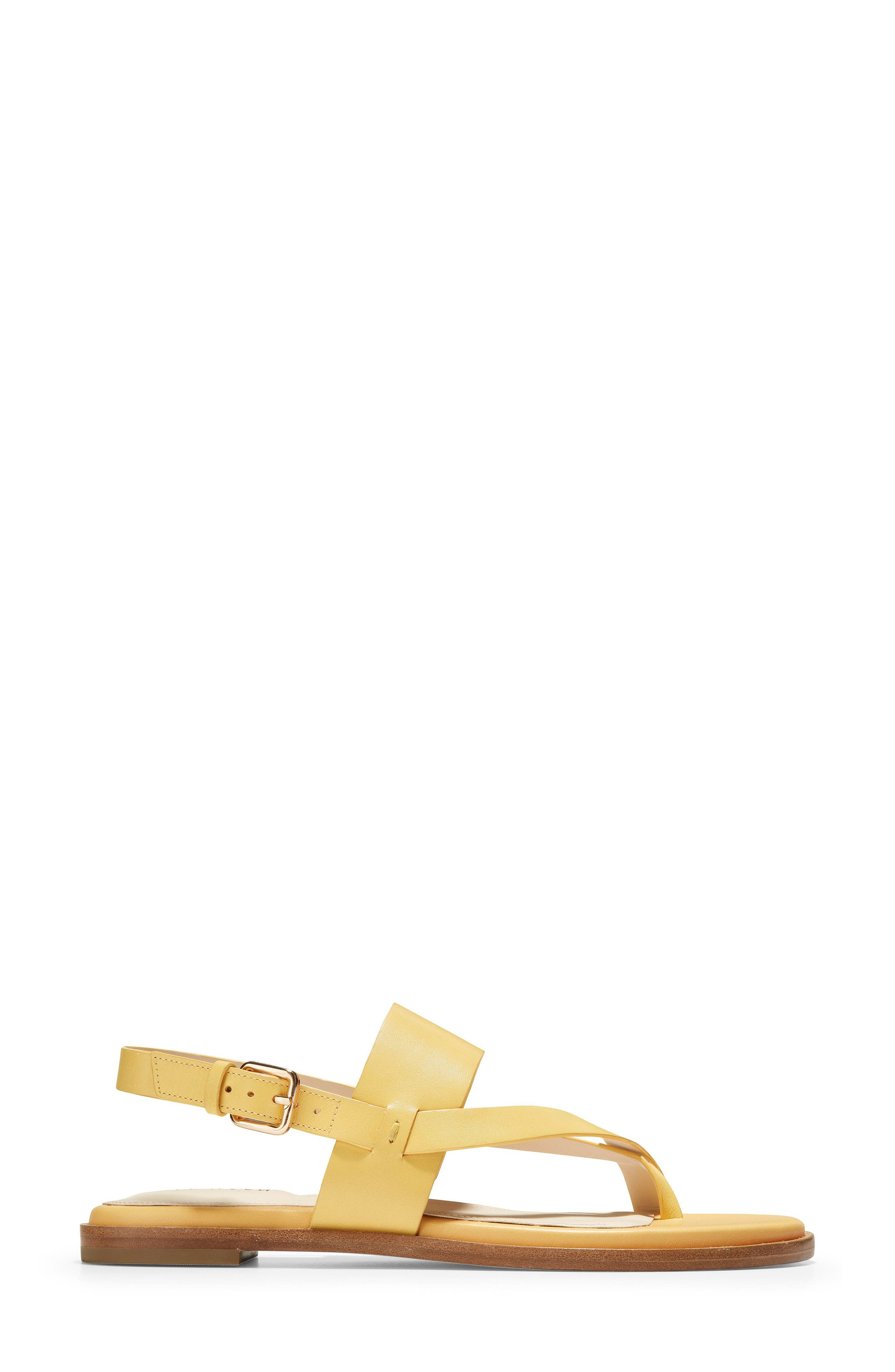 COLE HAAN, Anica Sandal, Alternate thumbnail 3, color, SUNSET GOLD LEATHER
