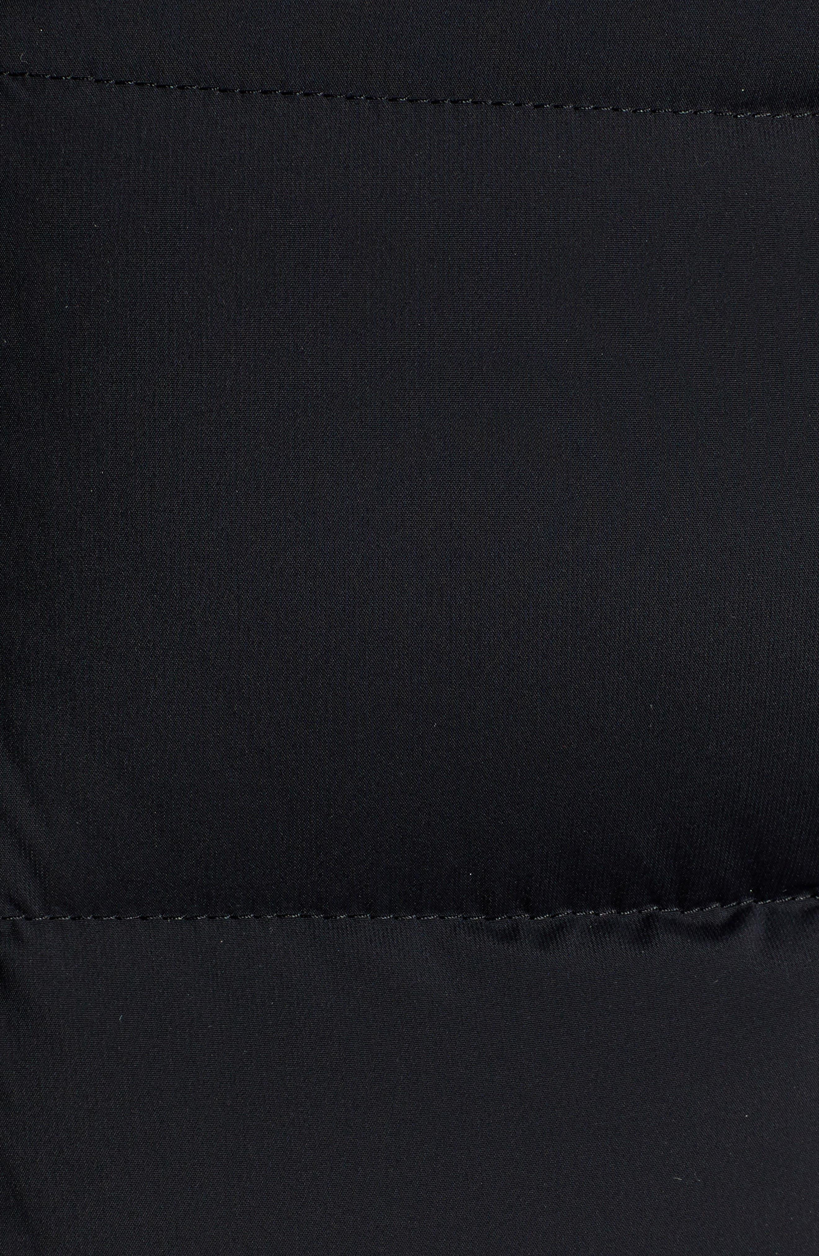 MACKAGE, Calla Genuine Fox Fur Trim Hooded Down Coat, Alternate thumbnail 7, color, BLACK