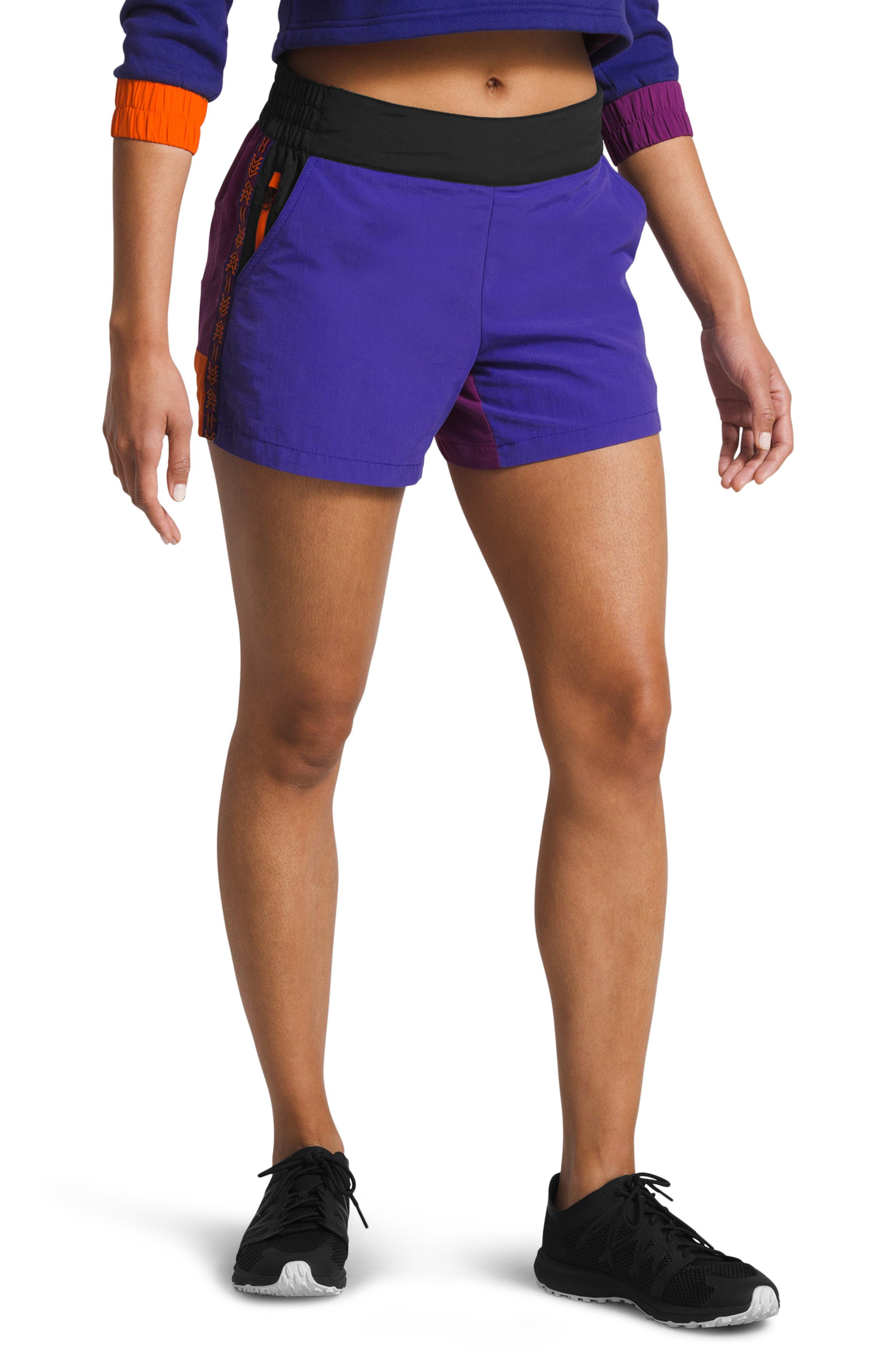 THE NORTH FACE 92 Rage Lounger Shorts, Main, color, AZTEC BLUE RAGE COMBO