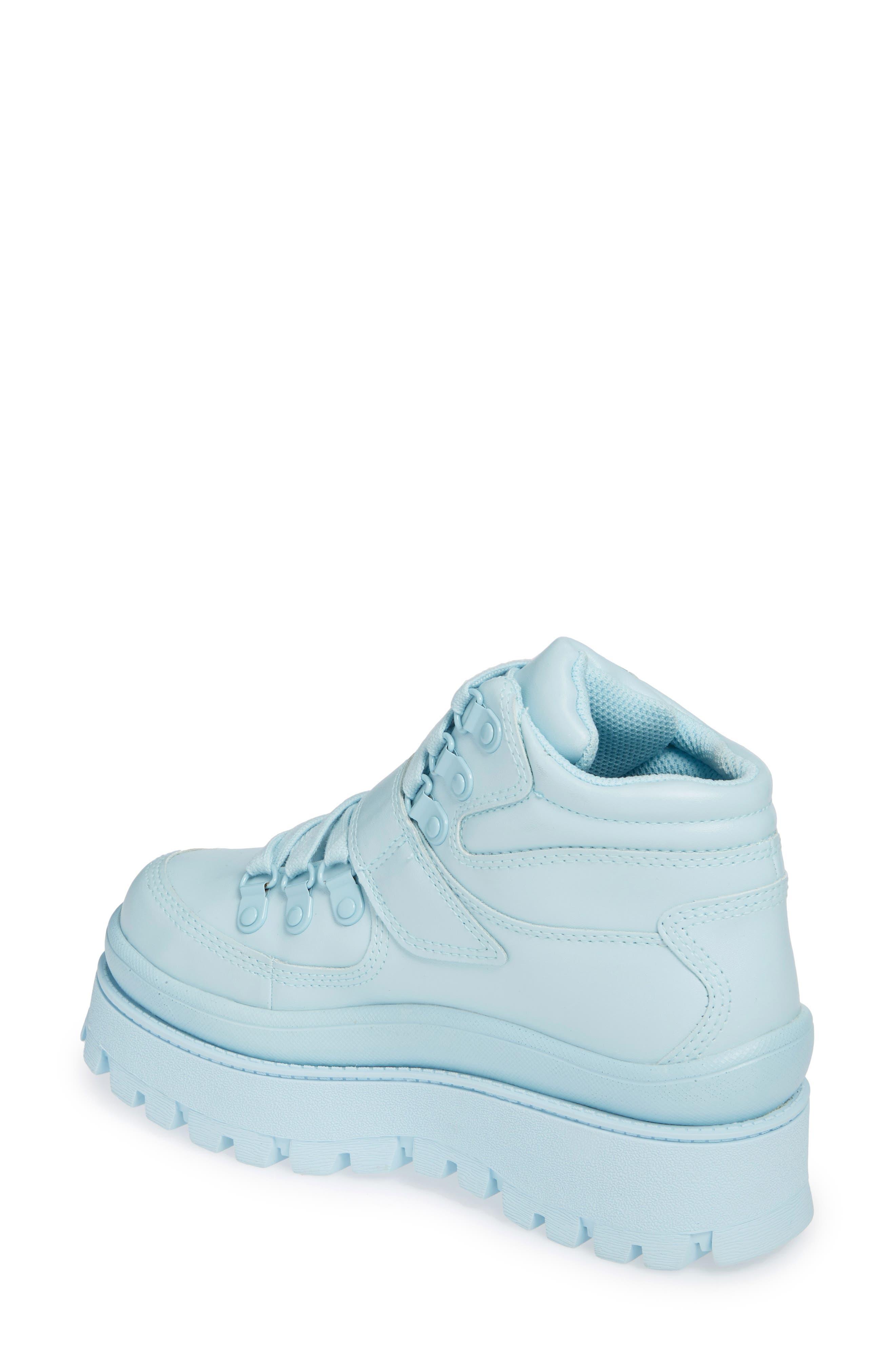 JEFFREY CAMPBELL, Top Peak 2 Platform Sneaker, Alternate thumbnail 2, color, BLUE FAUX LEATHER